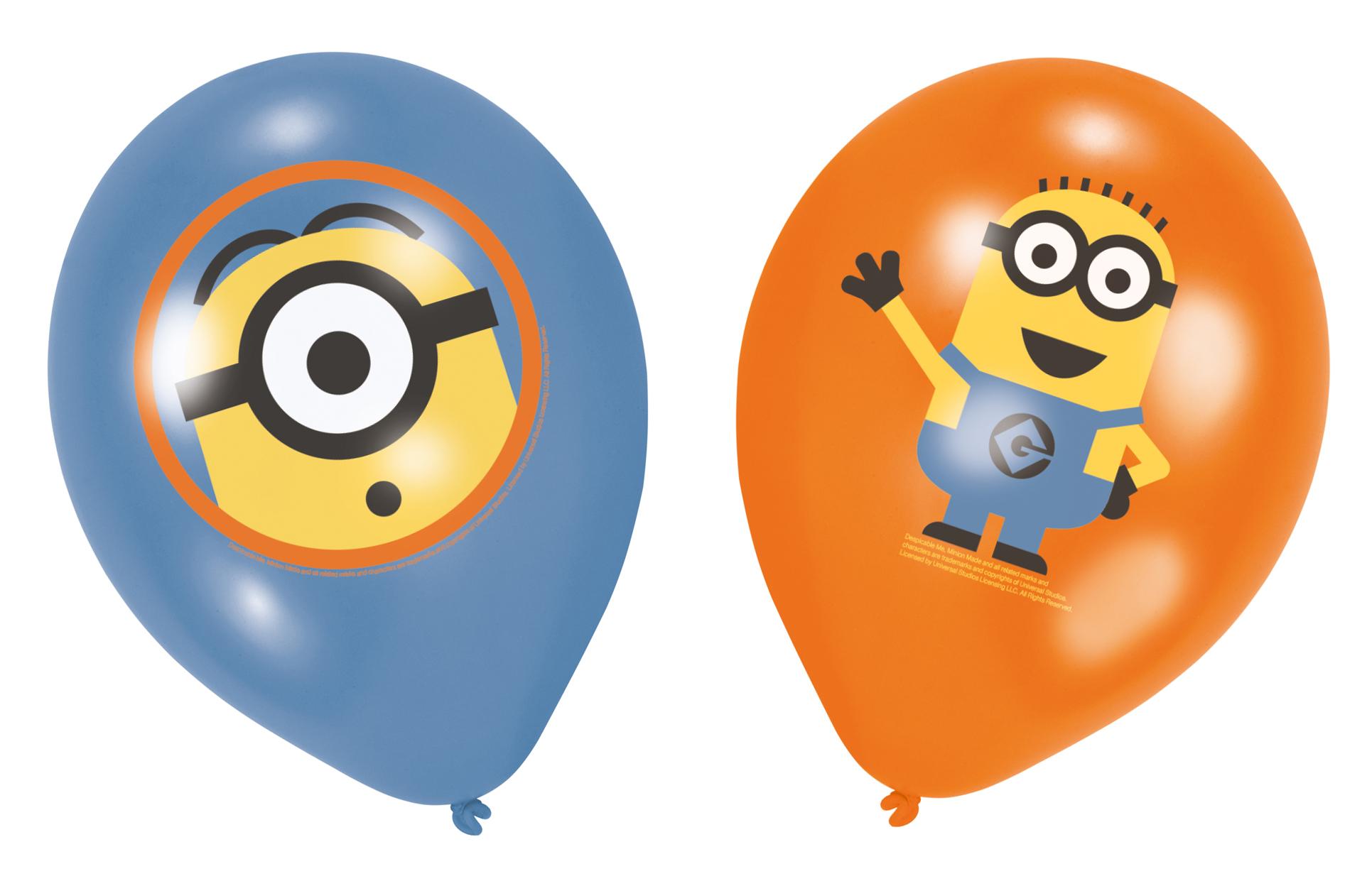 6 Ballons En Latex Minions ™ Moi, Moche Et Méchant™, Décoration Anniversaire Et Fêtes à Thème