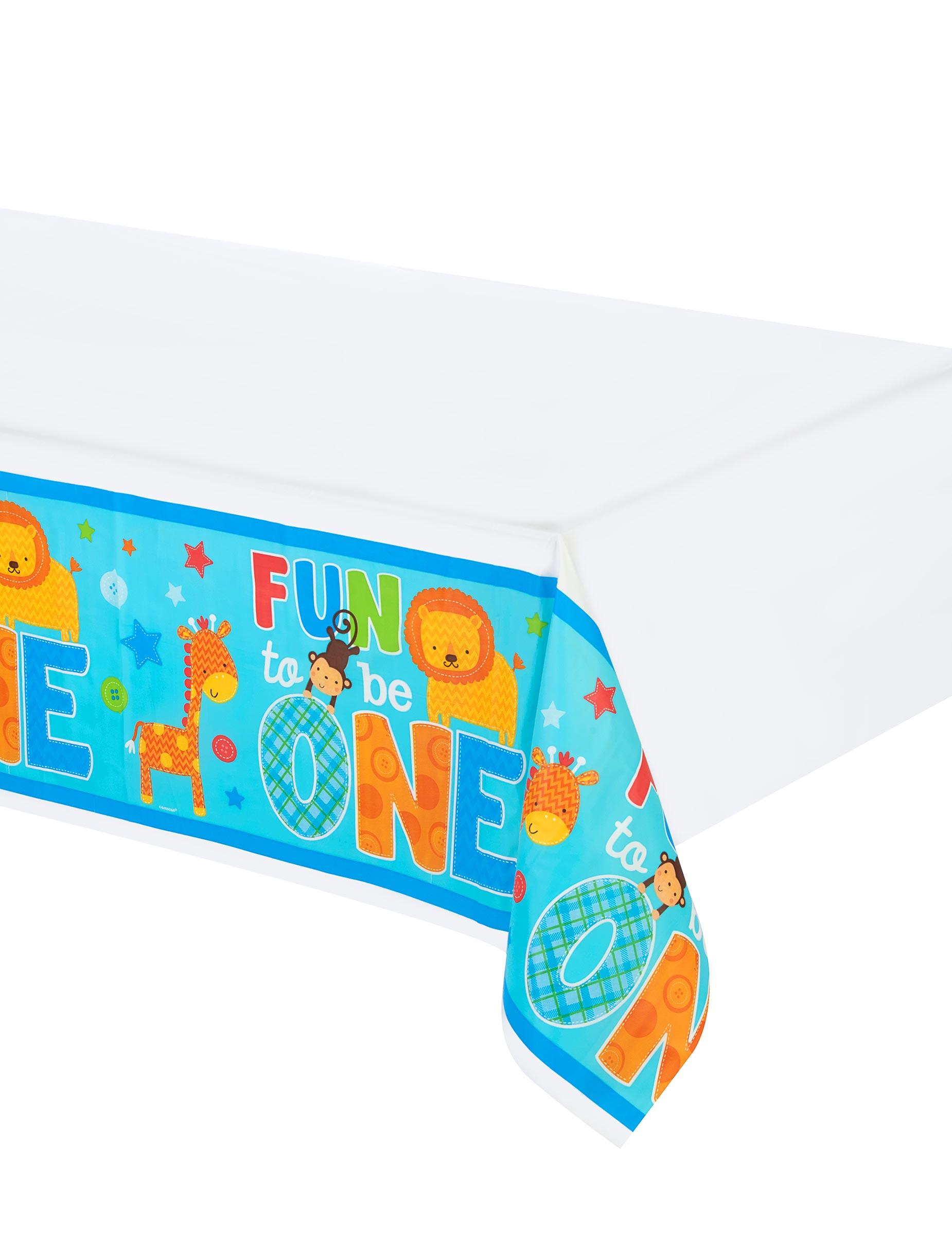 nappe en plastique 1 an gar on d coration anniversaire et f tes th me sur vegaoo party. Black Bedroom Furniture Sets. Home Design Ideas