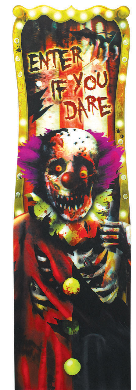 D coration lenticulaire clown d 39 halloween d coration for Decoration murale halloween