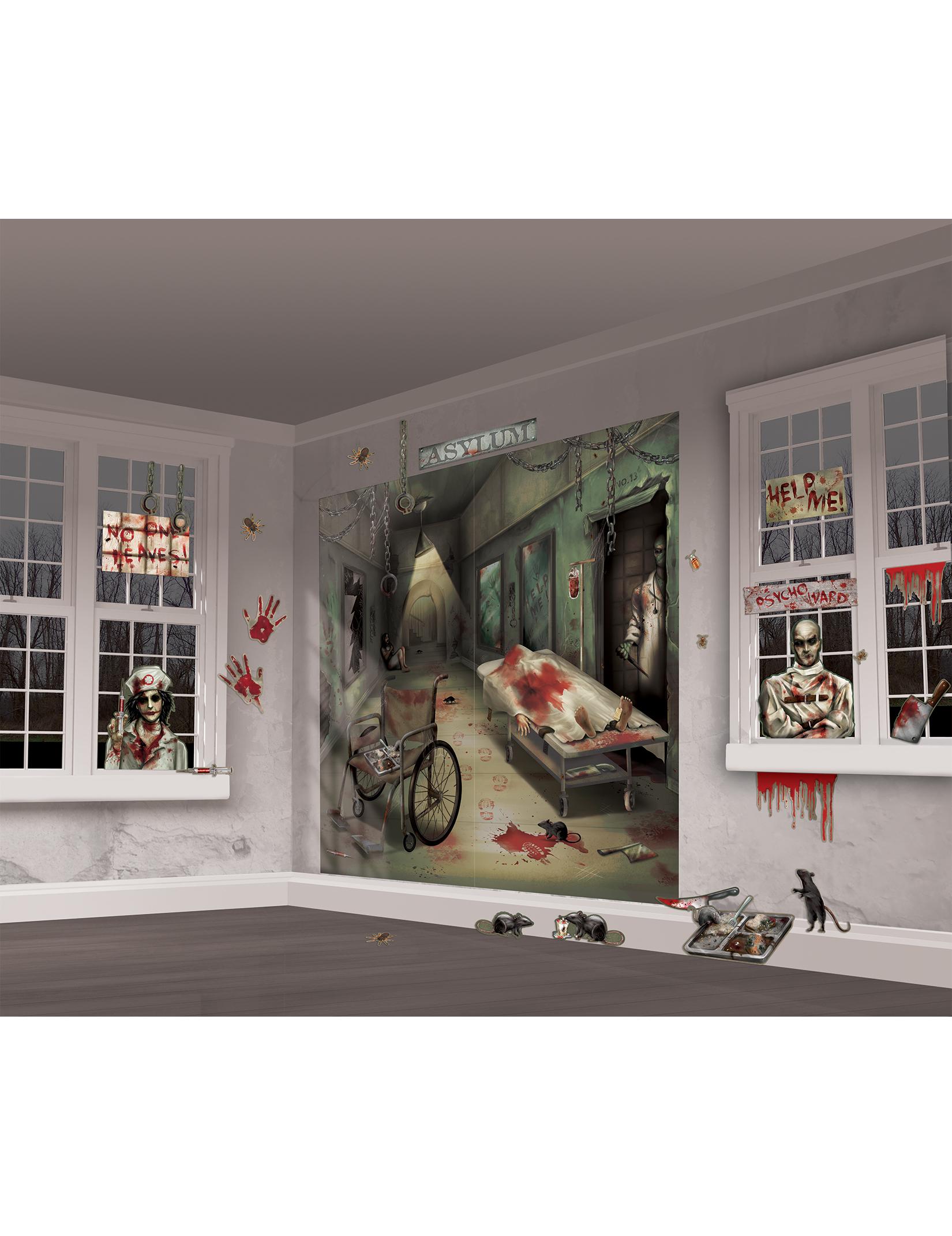 Kit de d coration murale halloween d coration anniversaire et f tes th me sur vegaoo party - Decoration salon halloween ...