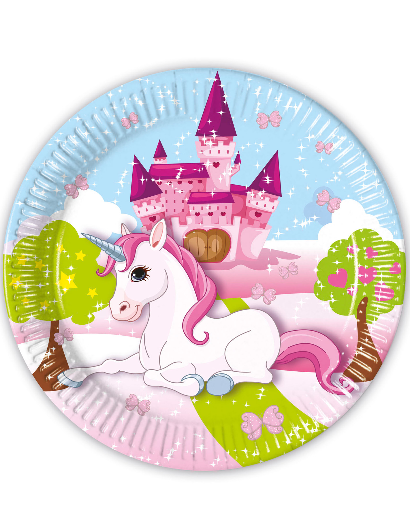 8 assiettes en carton licorne 23 cm d coration anniversaire et f tes th me sur vegaoo party - Image licorne ...