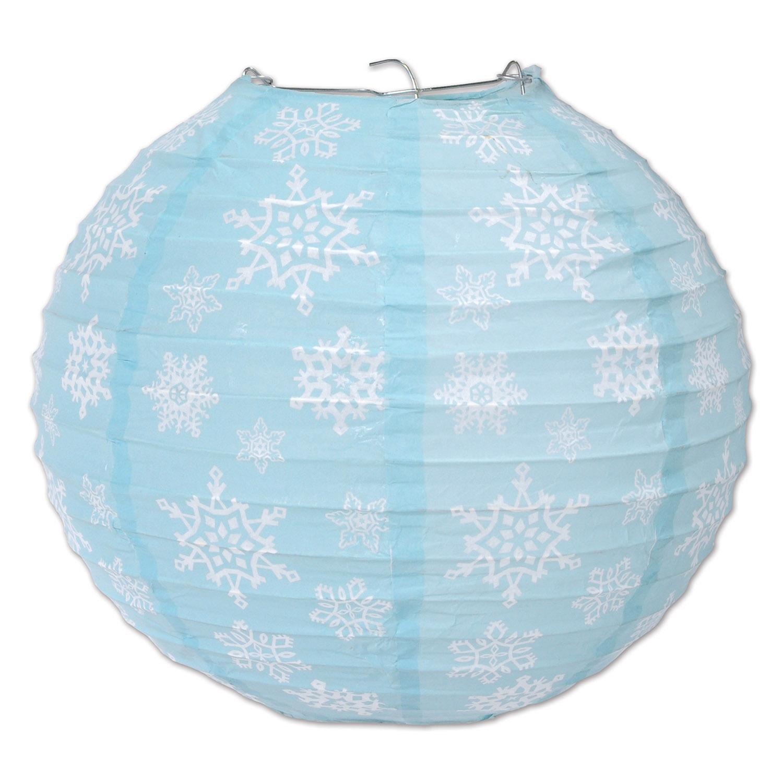 3 lanternes en papier flocons de neige d coration. Black Bedroom Furniture Sets. Home Design Ideas