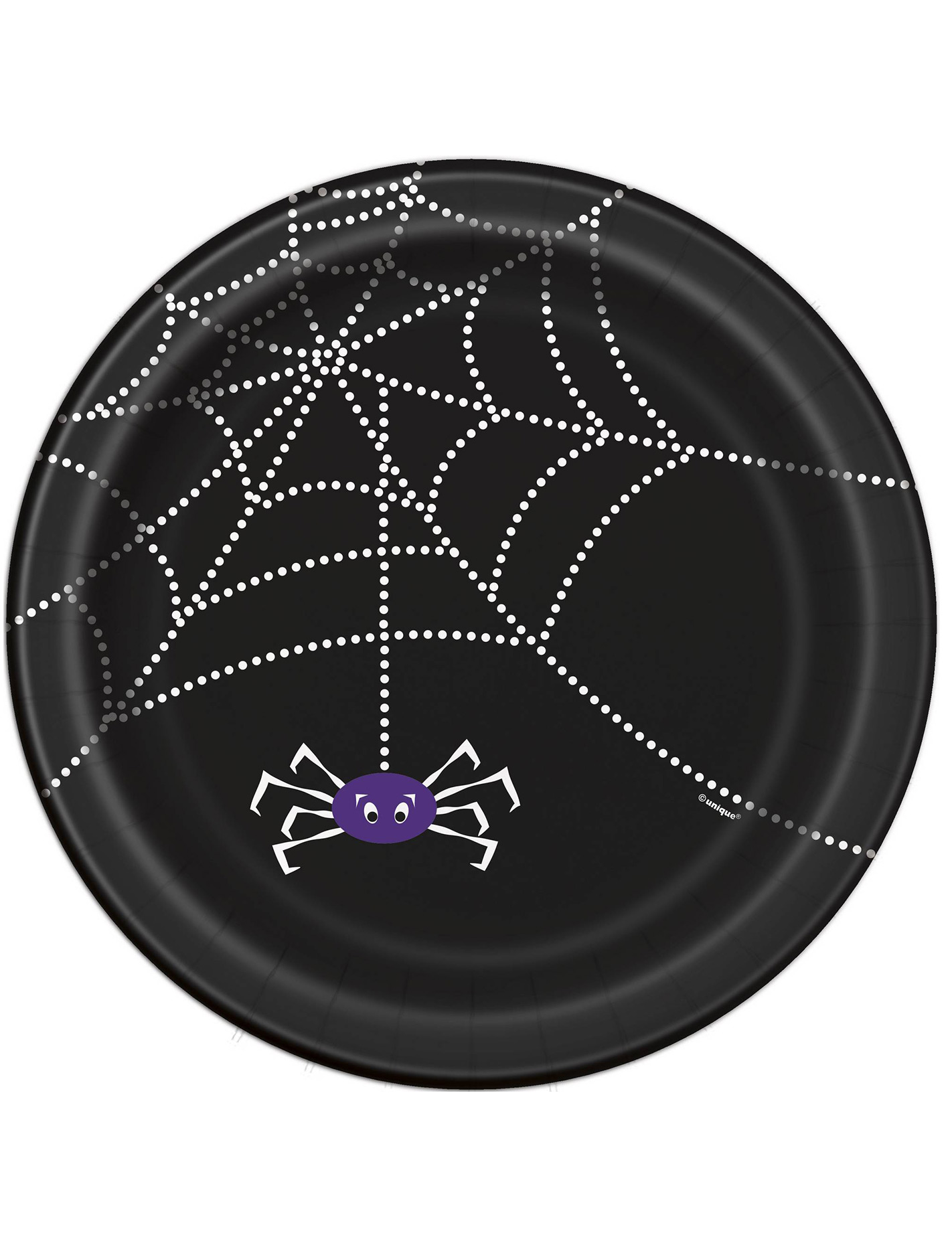 8 assiettes en carton toile d 39 araign e halloween 23 cm. Black Bedroom Furniture Sets. Home Design Ideas
