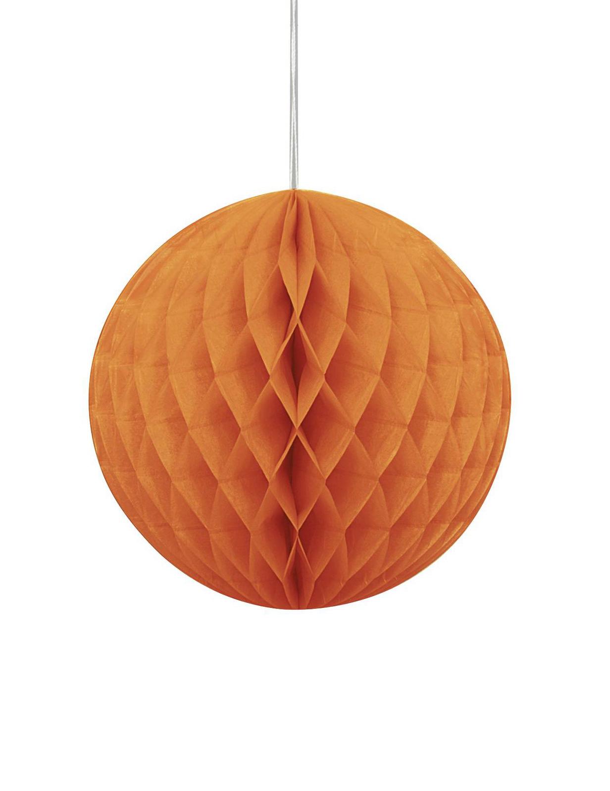 suspension boule en papier alv ol e orange 20 cm. Black Bedroom Furniture Sets. Home Design Ideas