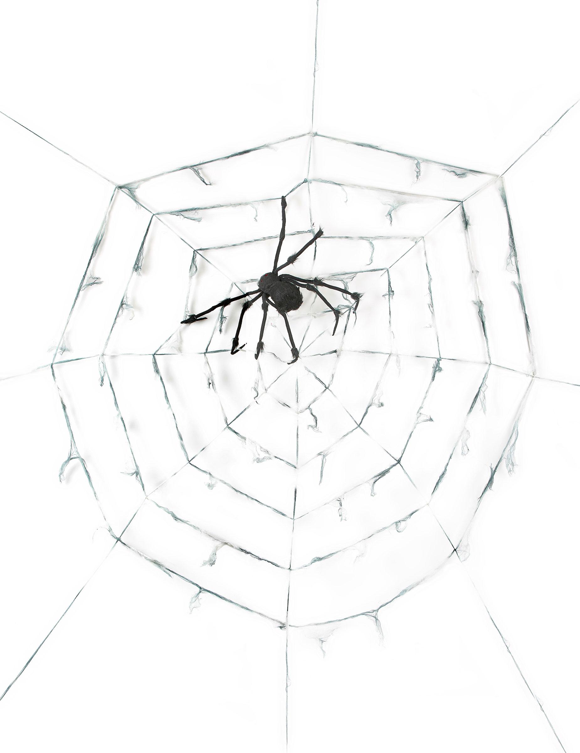 toile d 39 araign e g ante avec araign e halloween. Black Bedroom Furniture Sets. Home Design Ideas