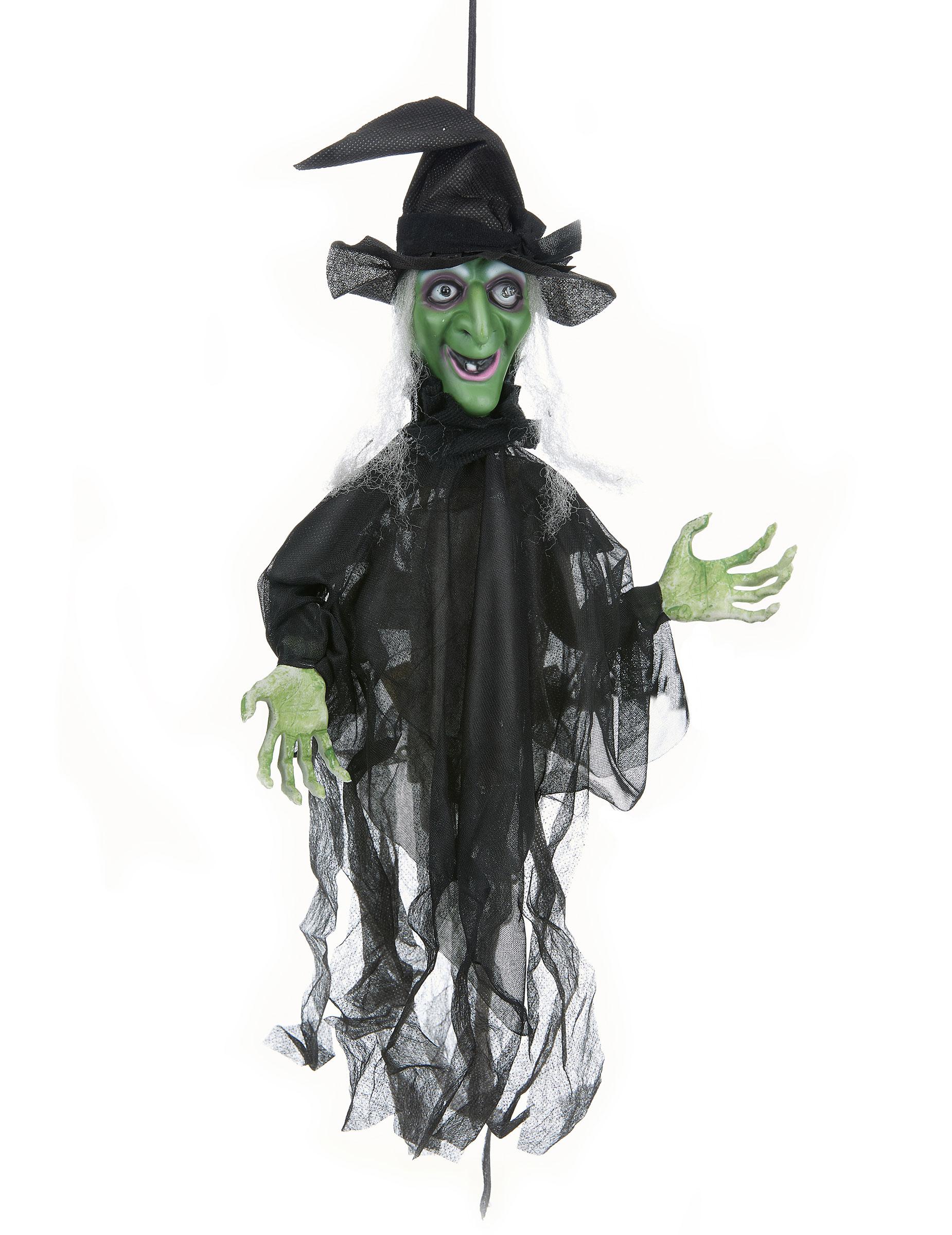 D coration sorci re anim e lumineuse et parlante halloween d coration anniversaire et f tes - Image de sorciere ...