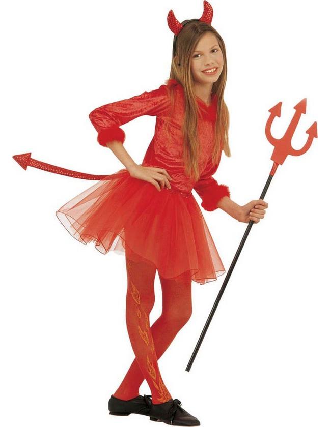 D guisement petite diablesse rouge tutu fille halloween d coration anniversaire et f tes - Petite diablesse ...
