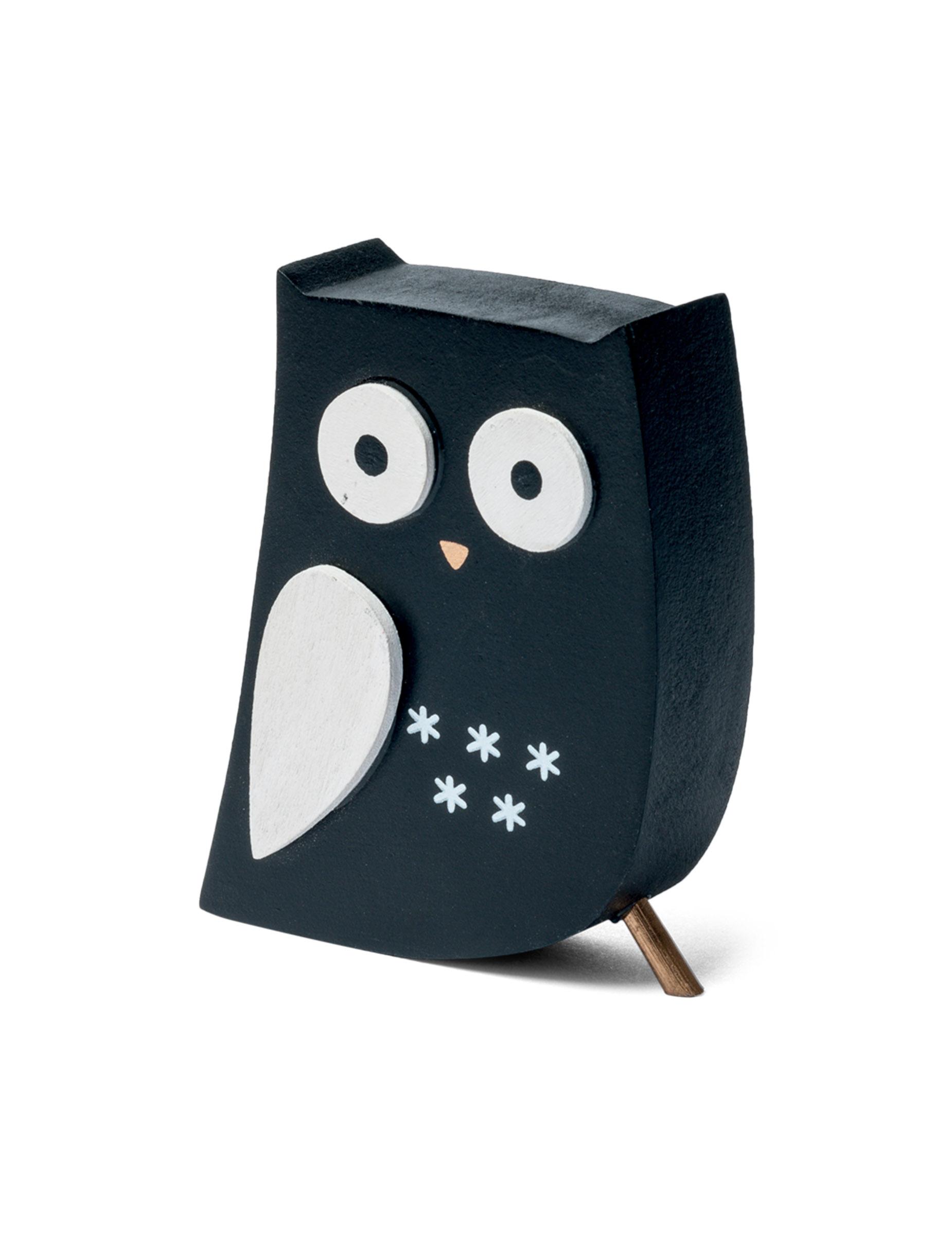 Hibou de d coration noir 9 cm d coration anniversaire et for Decoration hibou