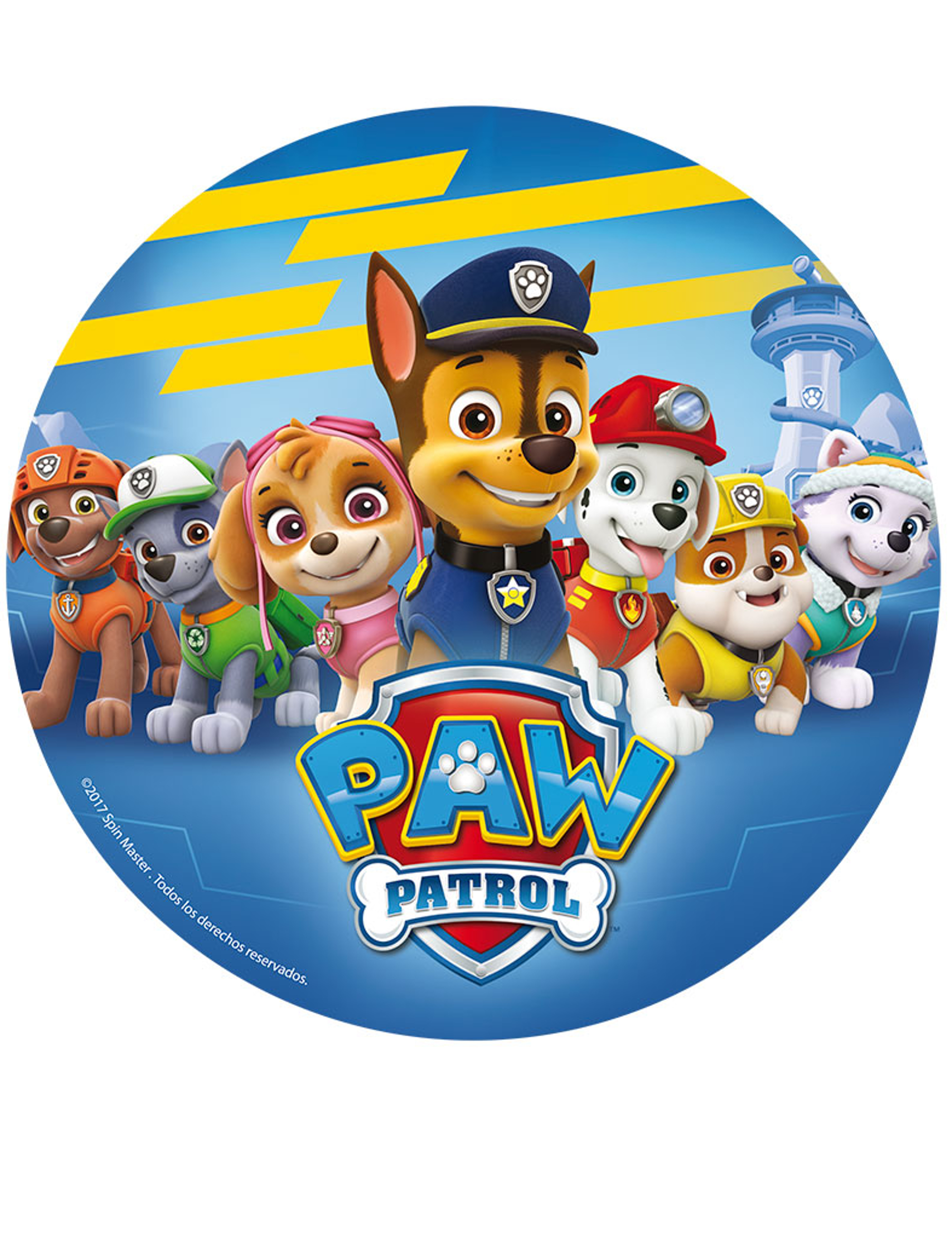Disques azyme cm pat patrouille paw patrol