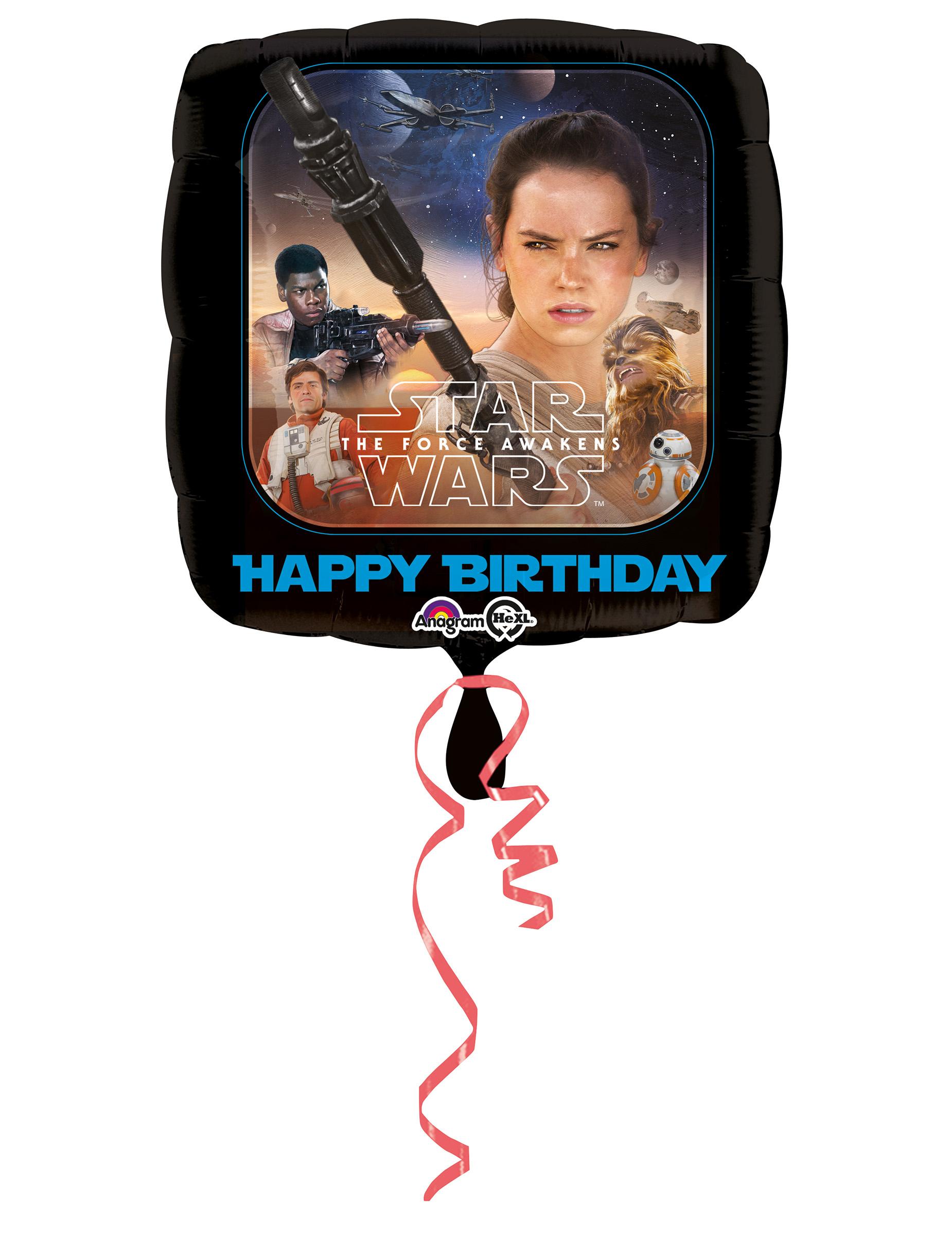 Ballon en aluminium joyeux anniversaire star wars vii - Bon anniversaire star wars ...
