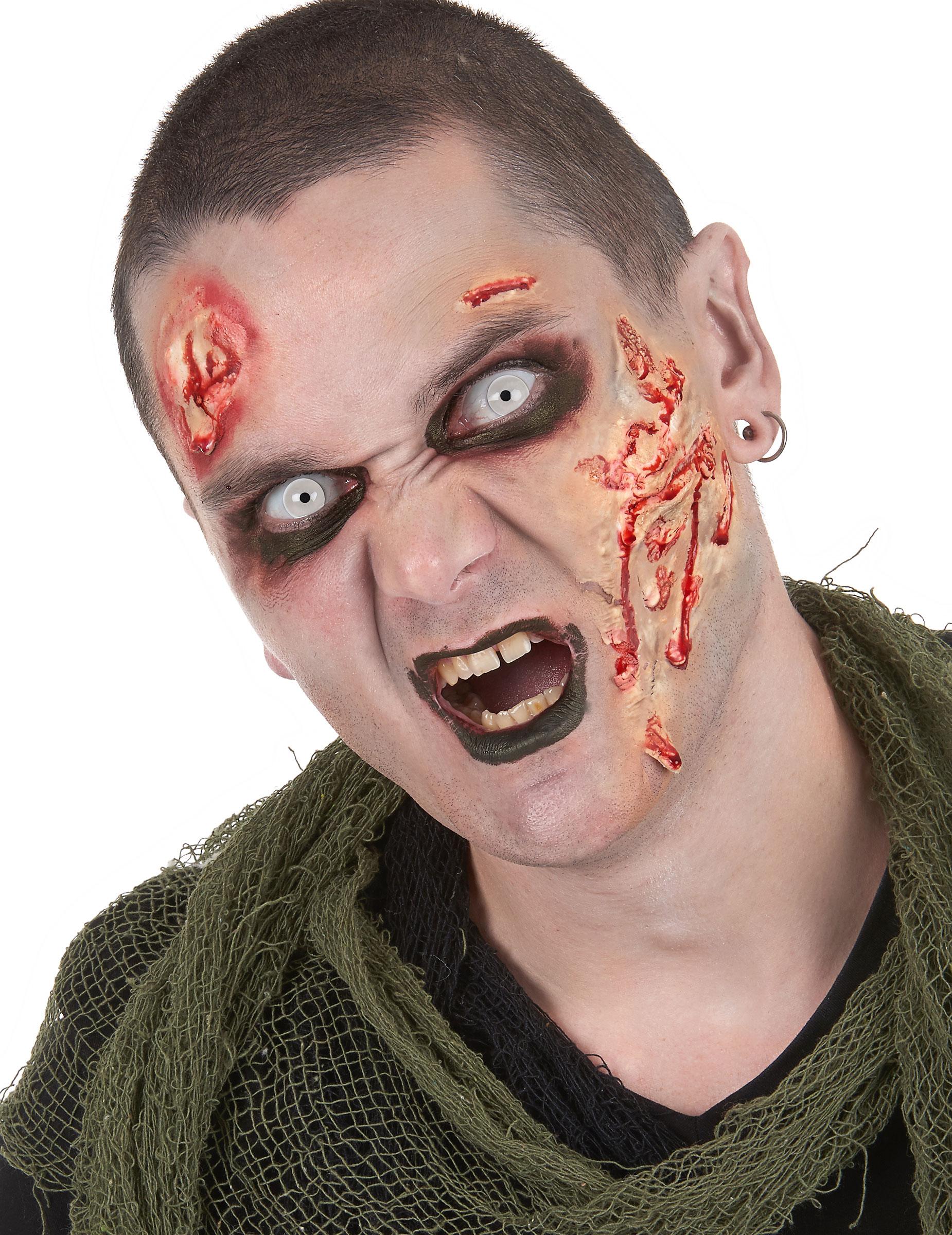 kit maquillage zombie avec lentilles fantaisie adulte. Black Bedroom Furniture Sets. Home Design Ideas