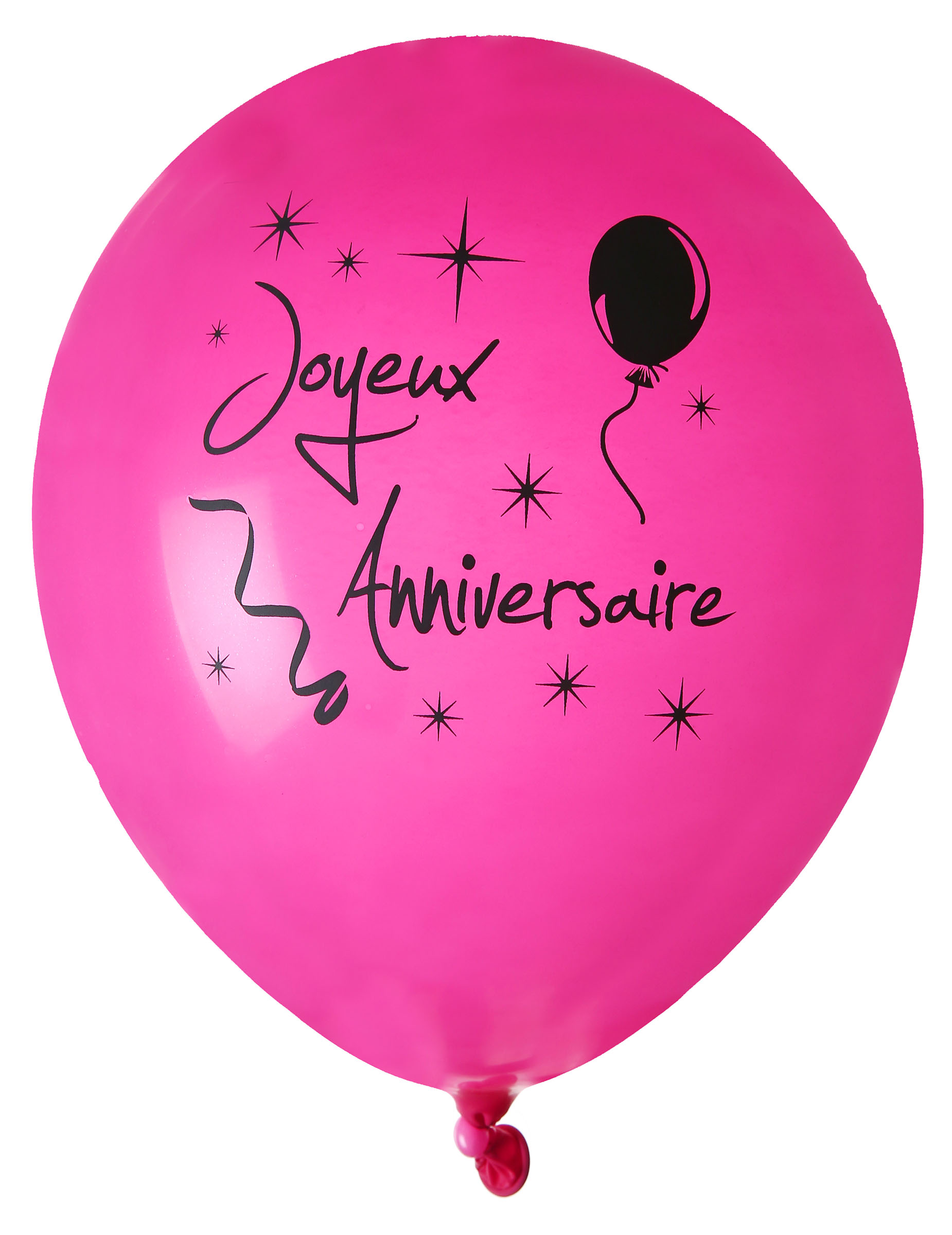8 ballons joyeux anniversaire fuschia d coration anniversaire et f tes th me sur vegaoo party. Black Bedroom Furniture Sets. Home Design Ideas