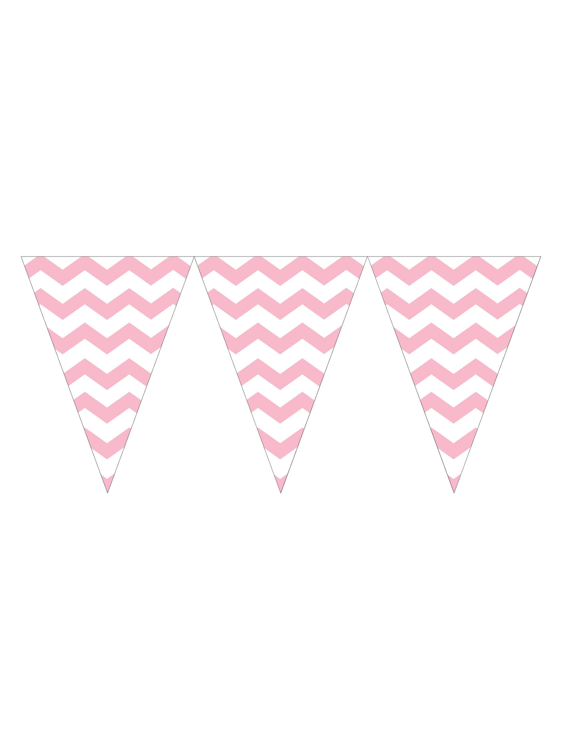 Guirlande fanions en plastique rose clair d coration - Dessin banderole ...