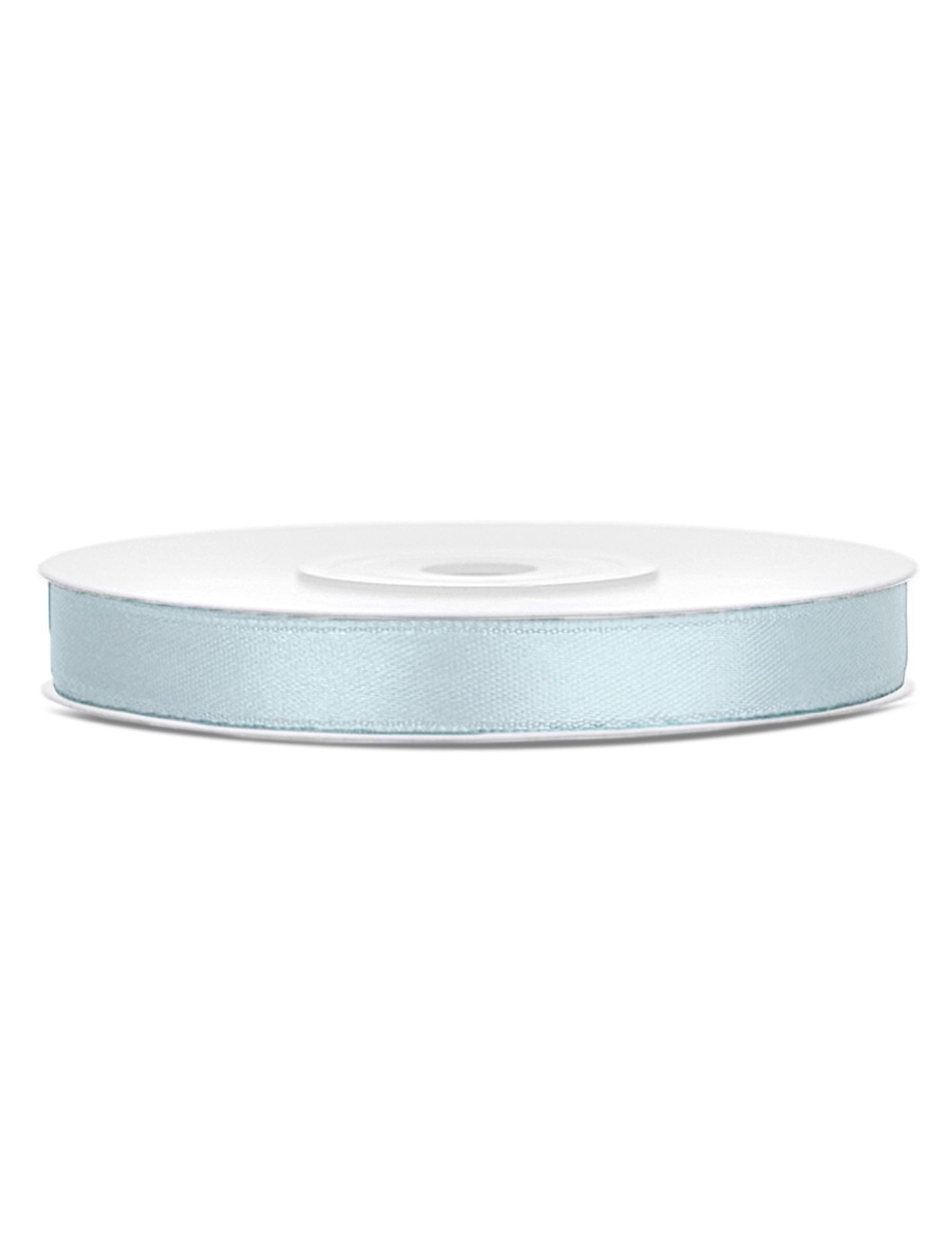 Ruban satin bleu gris clair 0 6 cm x 25 m d coration - Bleu gris clair ...