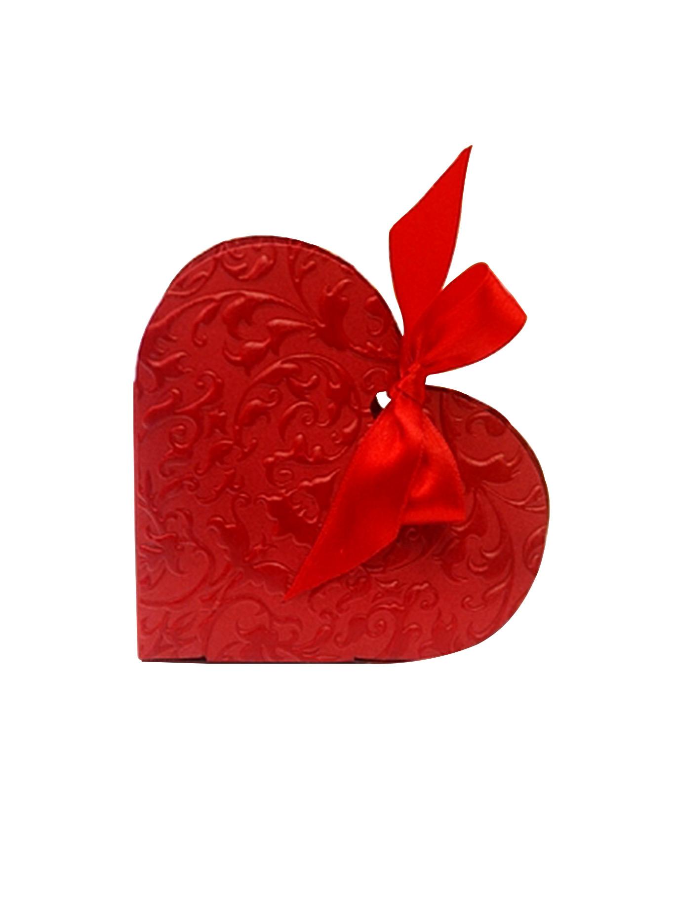 10 boites drag es coeur rouge d coration anniversaire - Decoration coeur rouge ...