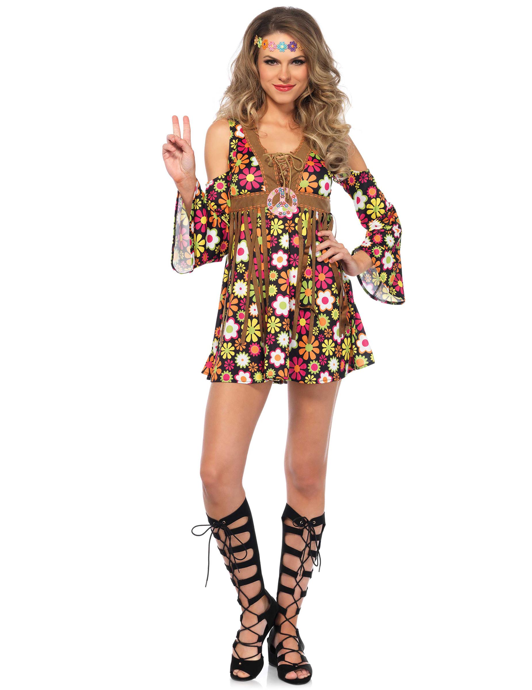 anniversaire thème Déguisement femmedécoration et fêtes à Vegaoo Party fleurie sur hippie hCQdBosxtr