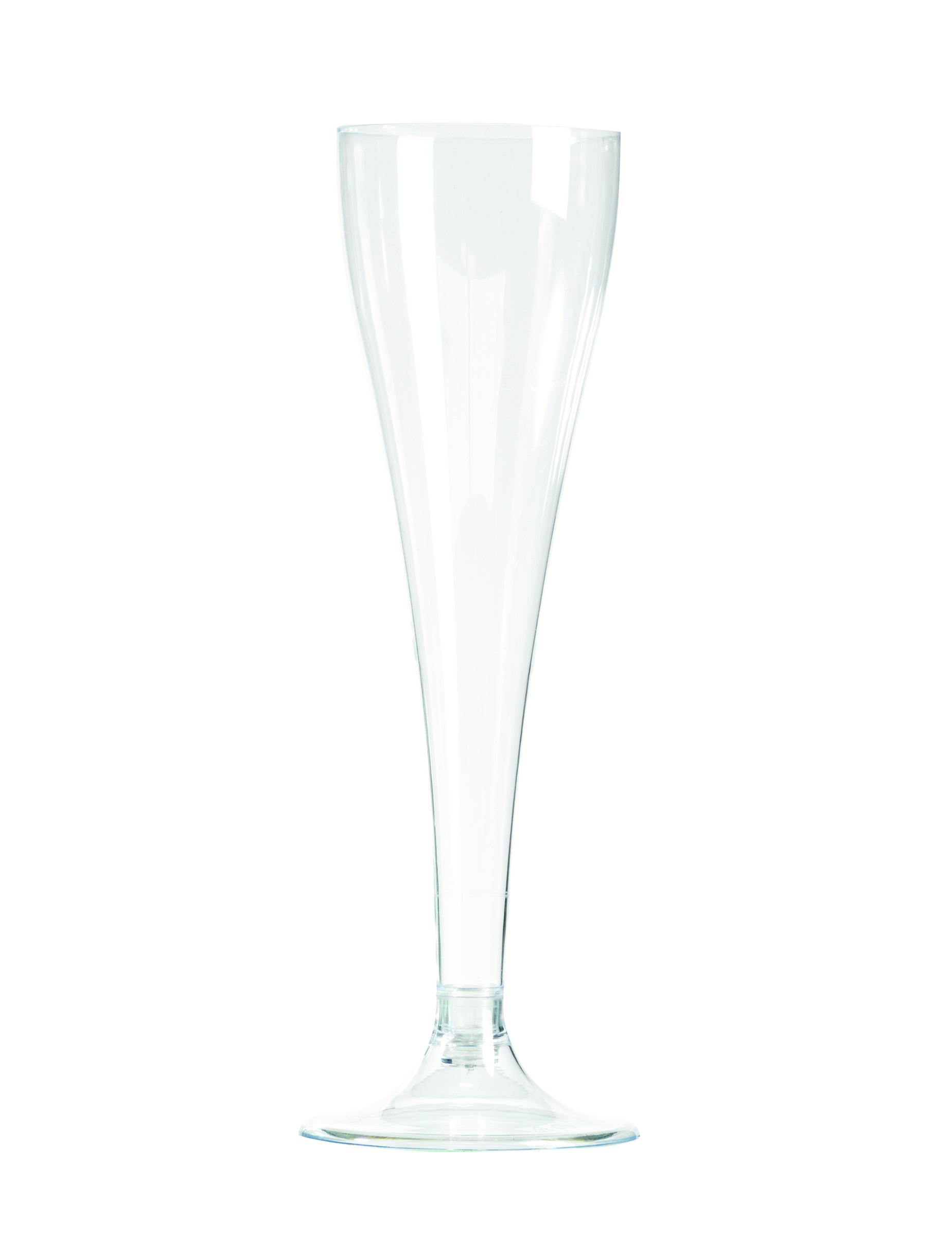 8 Flûtes champagne en plastique transparent 10 cl, décoration anniversaire et fêtes à thème sur Vegaoo Party