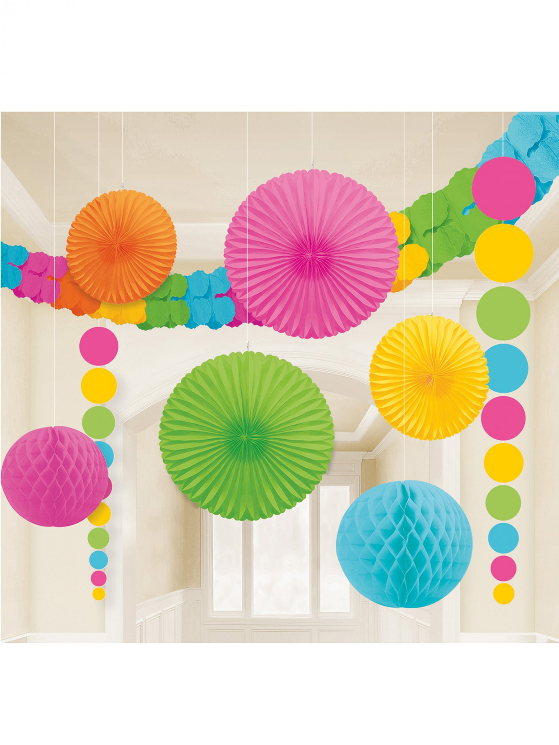 kit de d coration de salle multicolore d coration anniversaire et f tes th me sur vegaoo party. Black Bedroom Furniture Sets. Home Design Ideas