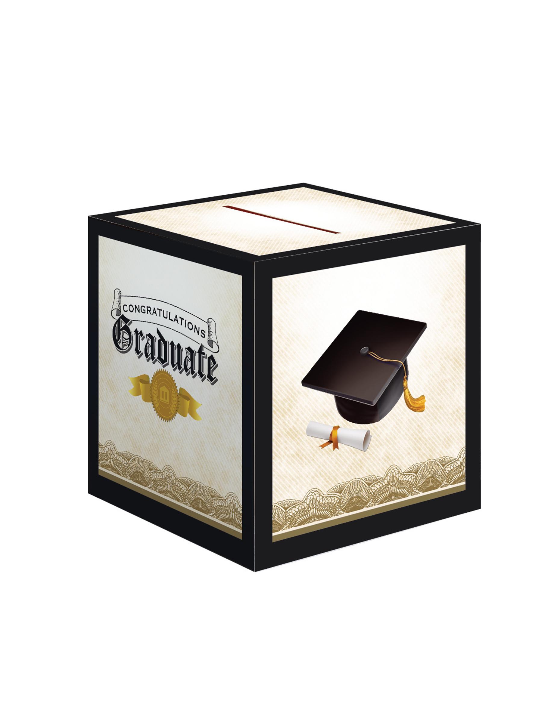 urne en carton congratulations graduate d coration anniversaire et f tes th me sur vegaoo party. Black Bedroom Furniture Sets. Home Design Ideas