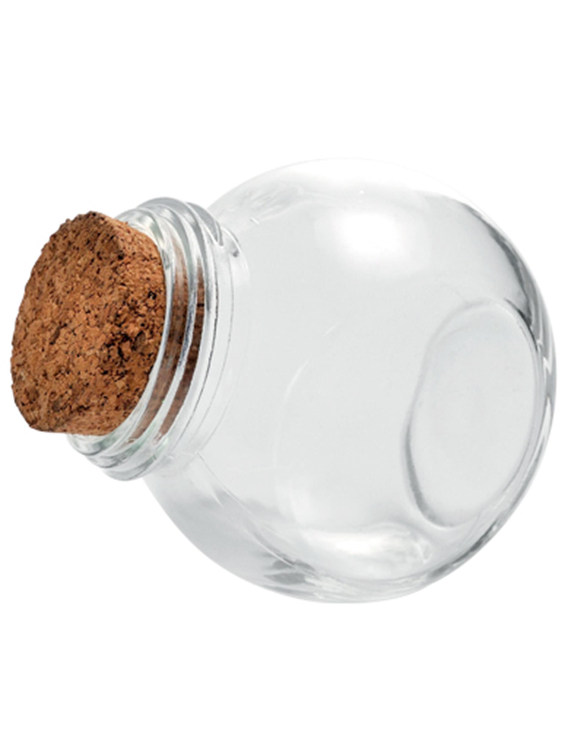 Petit bocal en verre avec bouchon li ge 5 5 cm d coration anniversaire et f tes th me sur for Decoration bocal en verre