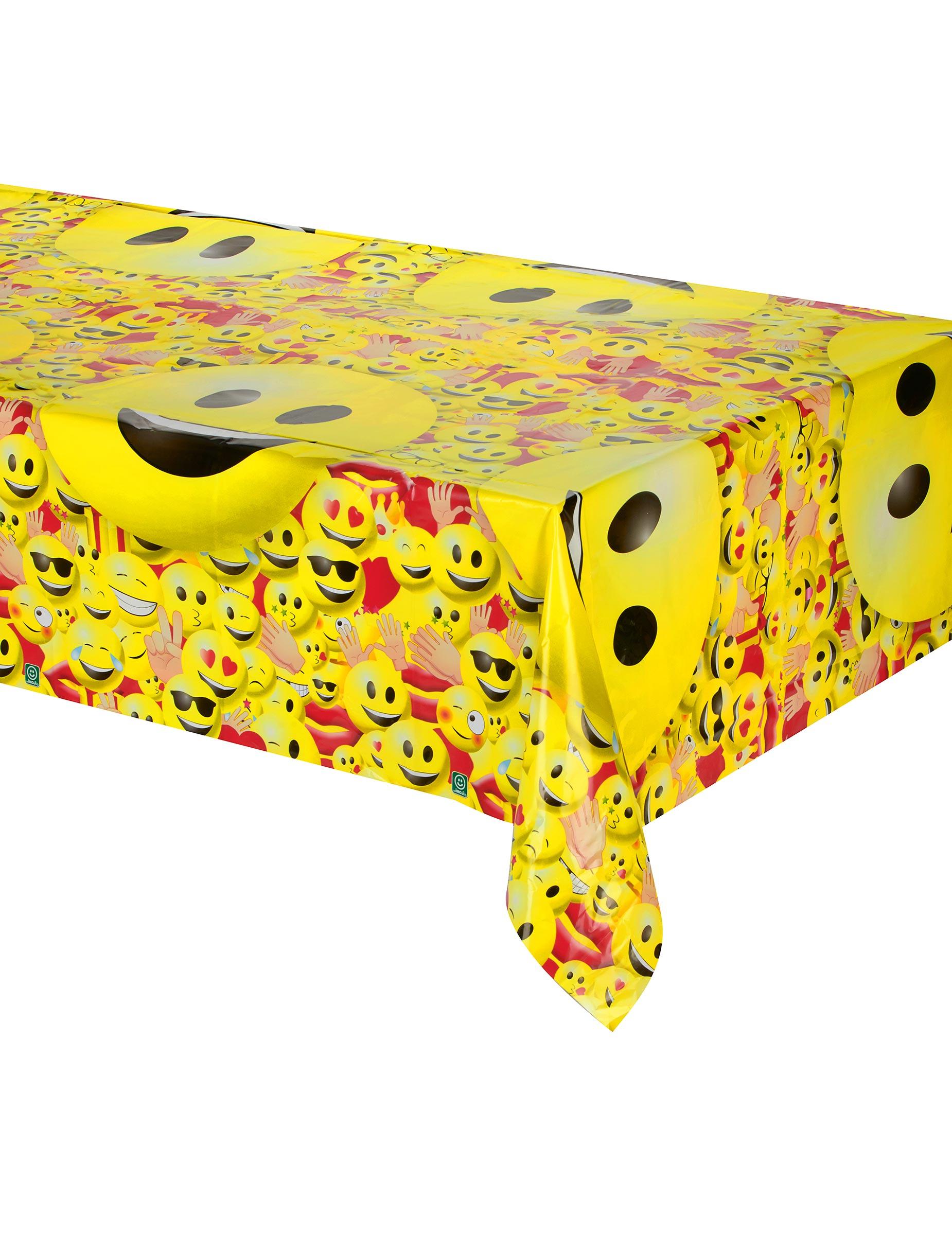 nappe en plastique imoji 180 x 150 cm d coration anniversaire et f tes th me sur vegaoo party. Black Bedroom Furniture Sets. Home Design Ideas
