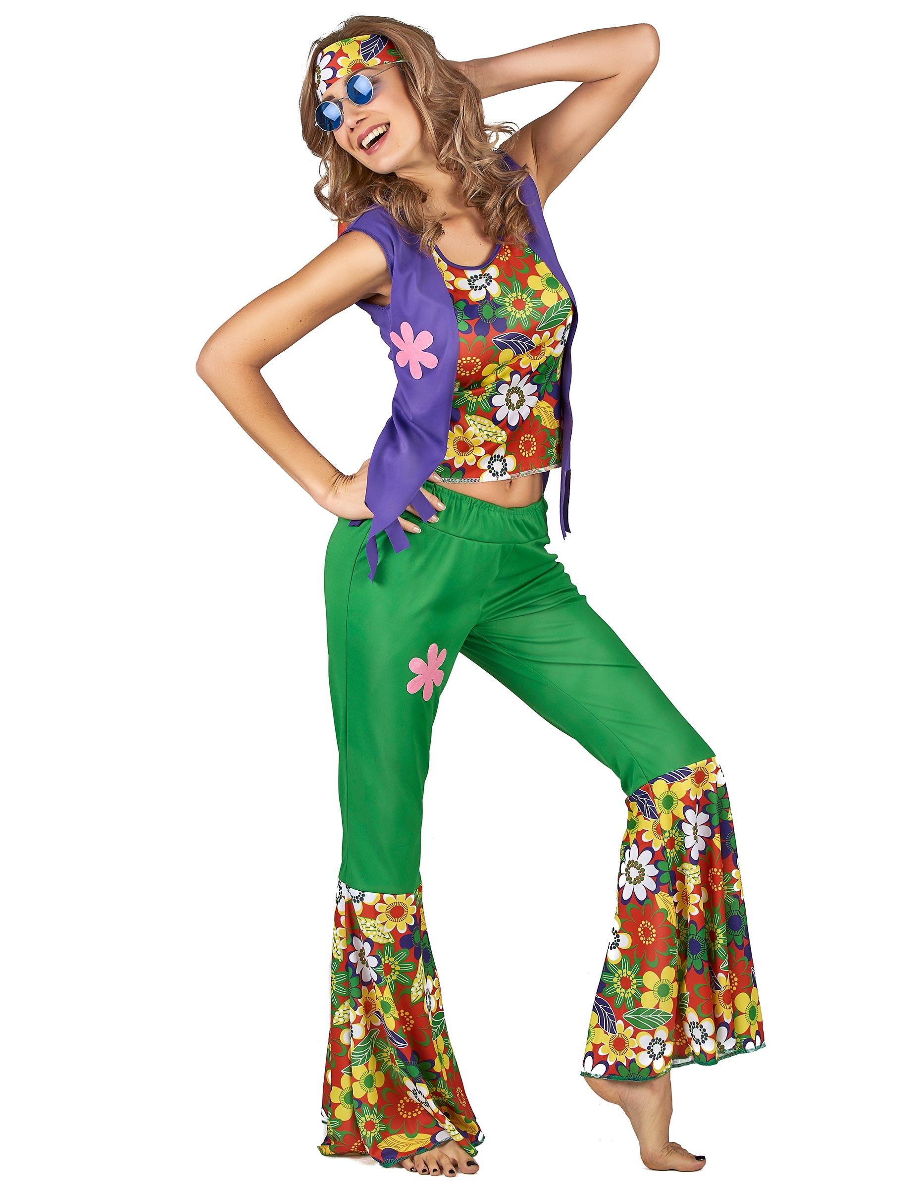 Déguisement Hippie flower power femme, décoration anniversaire et fêtes à thème sur Vegaoo Party