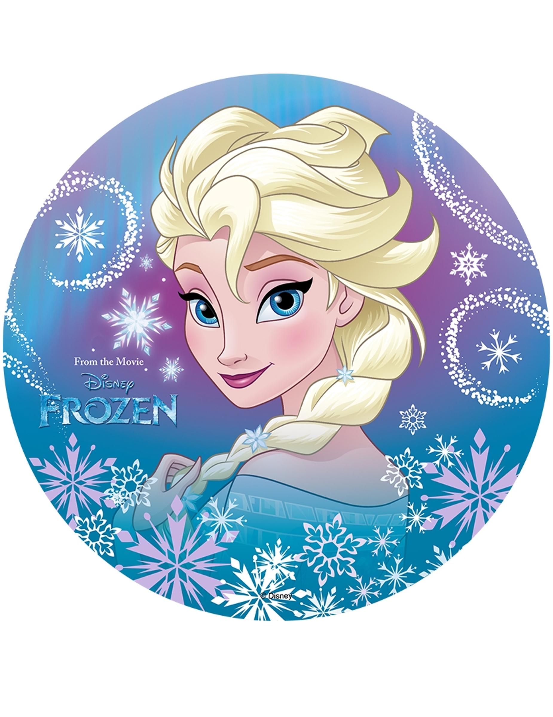 Disque azyme elsa la reine des neiges 20 cm d coration anniversaire et f tes th me sur - La reine elsa ...