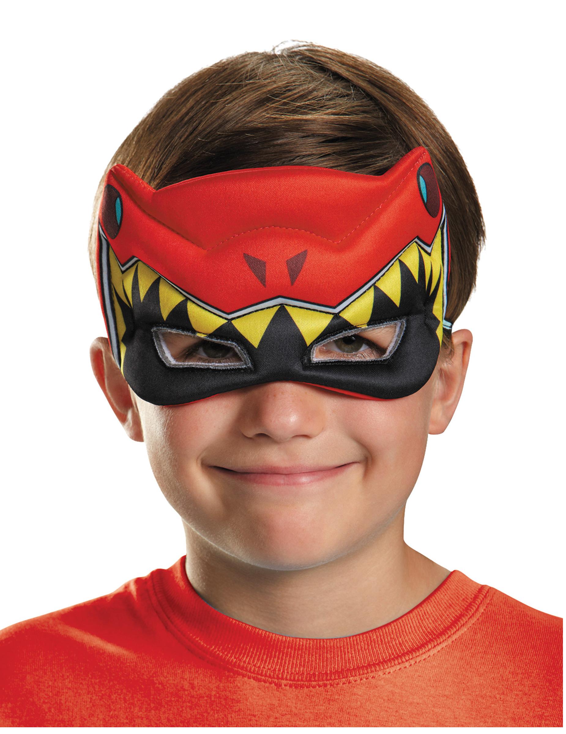 Demi masque power rangers dinocharge rouge enfant - Masque de power rangers ...