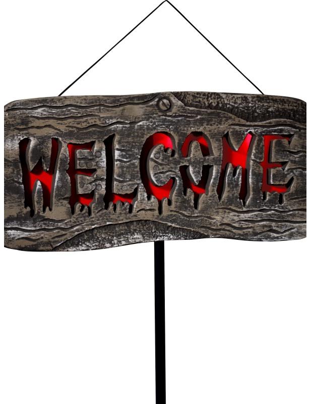 panneau ext rieur lumineux welcome halloween d coration anniversaire et f tes th me sur. Black Bedroom Furniture Sets. Home Design Ideas