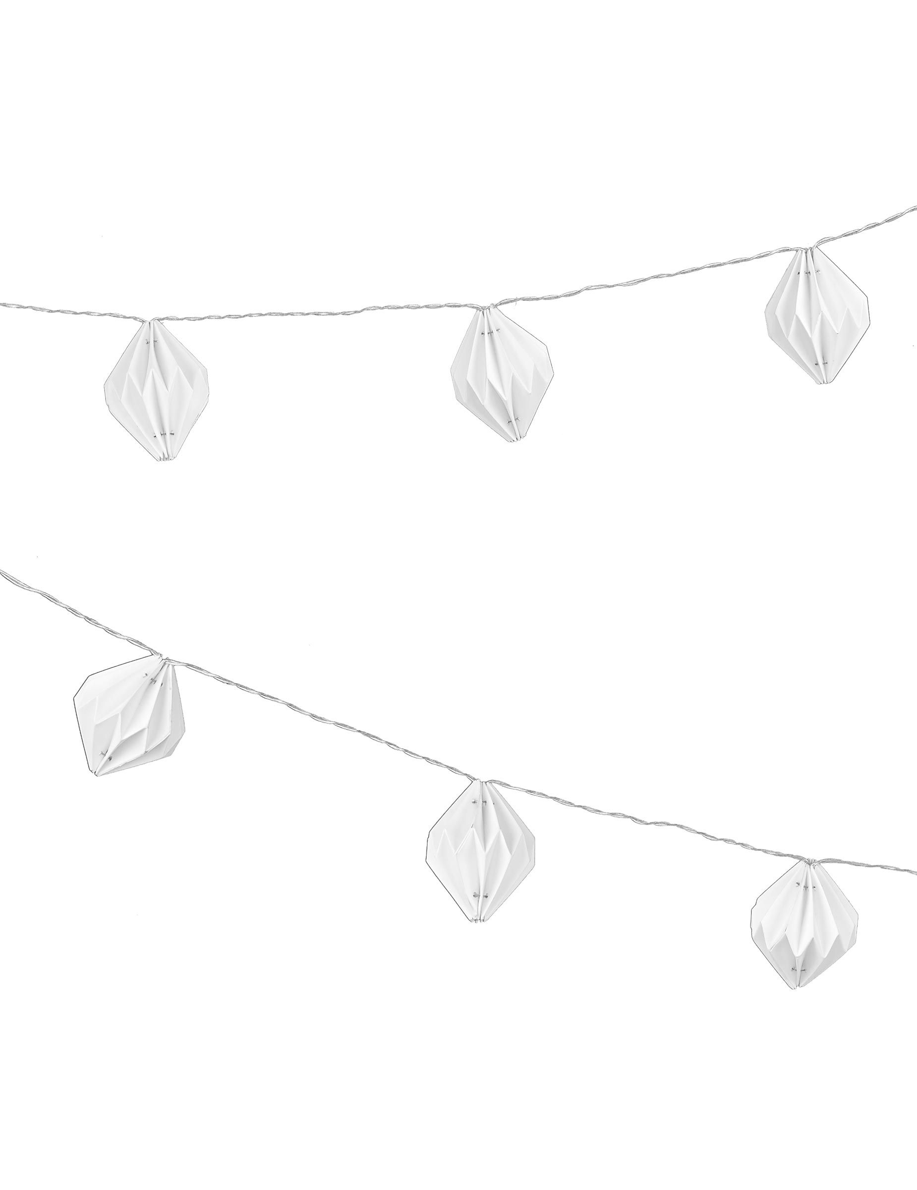 guirlande lumineuse origami blanche 2m10 d coration anniversaire et f tes th me sur vegaoo party. Black Bedroom Furniture Sets. Home Design Ideas