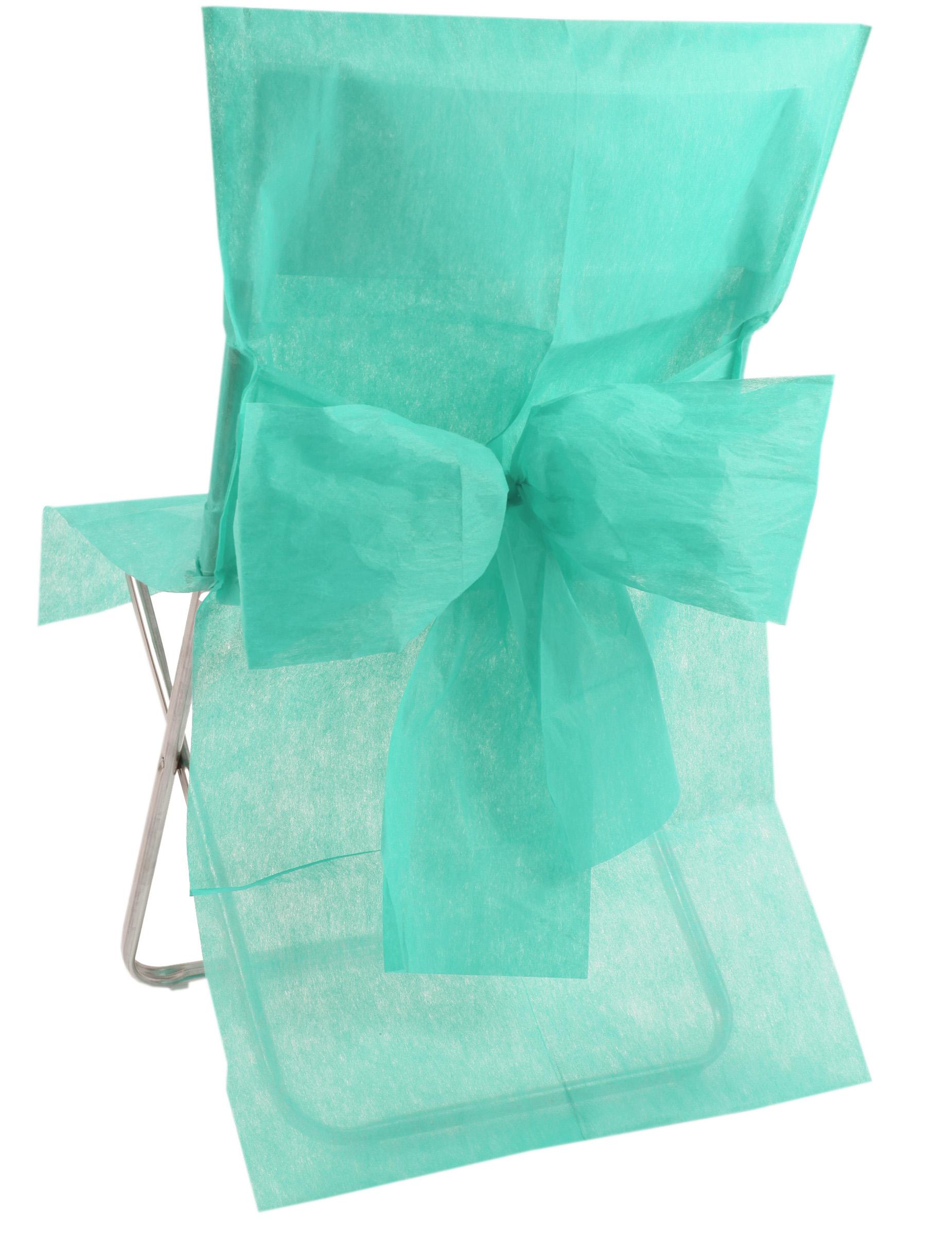 10 housses de chaise premium menthe d coration - Housse de chaise en papier ...