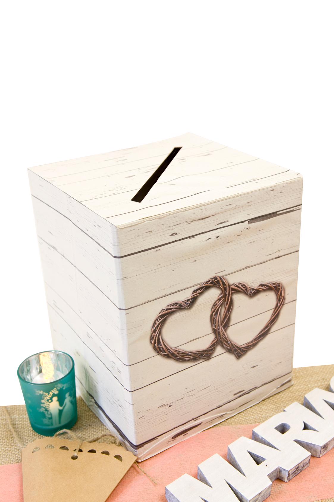urne en carton mariage romantique 20 x 23 5 cm d coration anniversaire et f tes th me sur. Black Bedroom Furniture Sets. Home Design Ideas