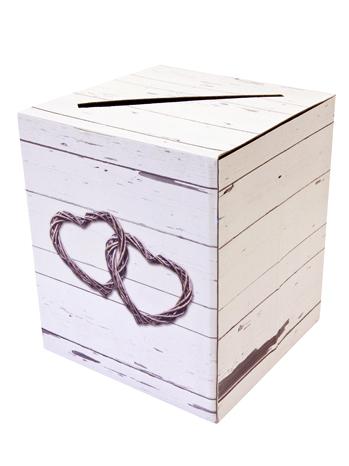 Urne En Carton Mariage Romantique 20 X 235 Cm
