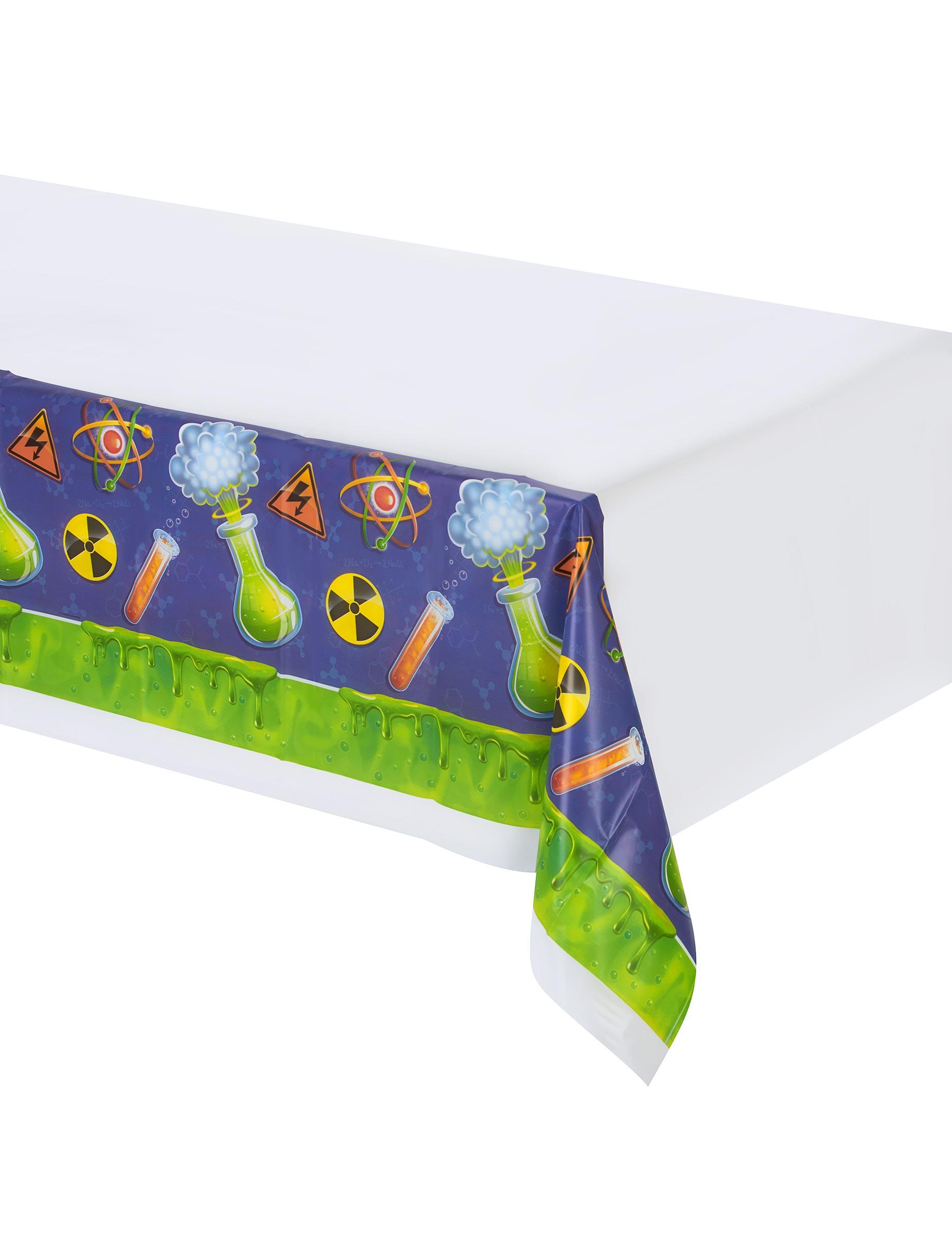 nappe en plastique scientifique 137 x 259 cm d coration anniversaire et f tes th me sur. Black Bedroom Furniture Sets. Home Design Ideas
