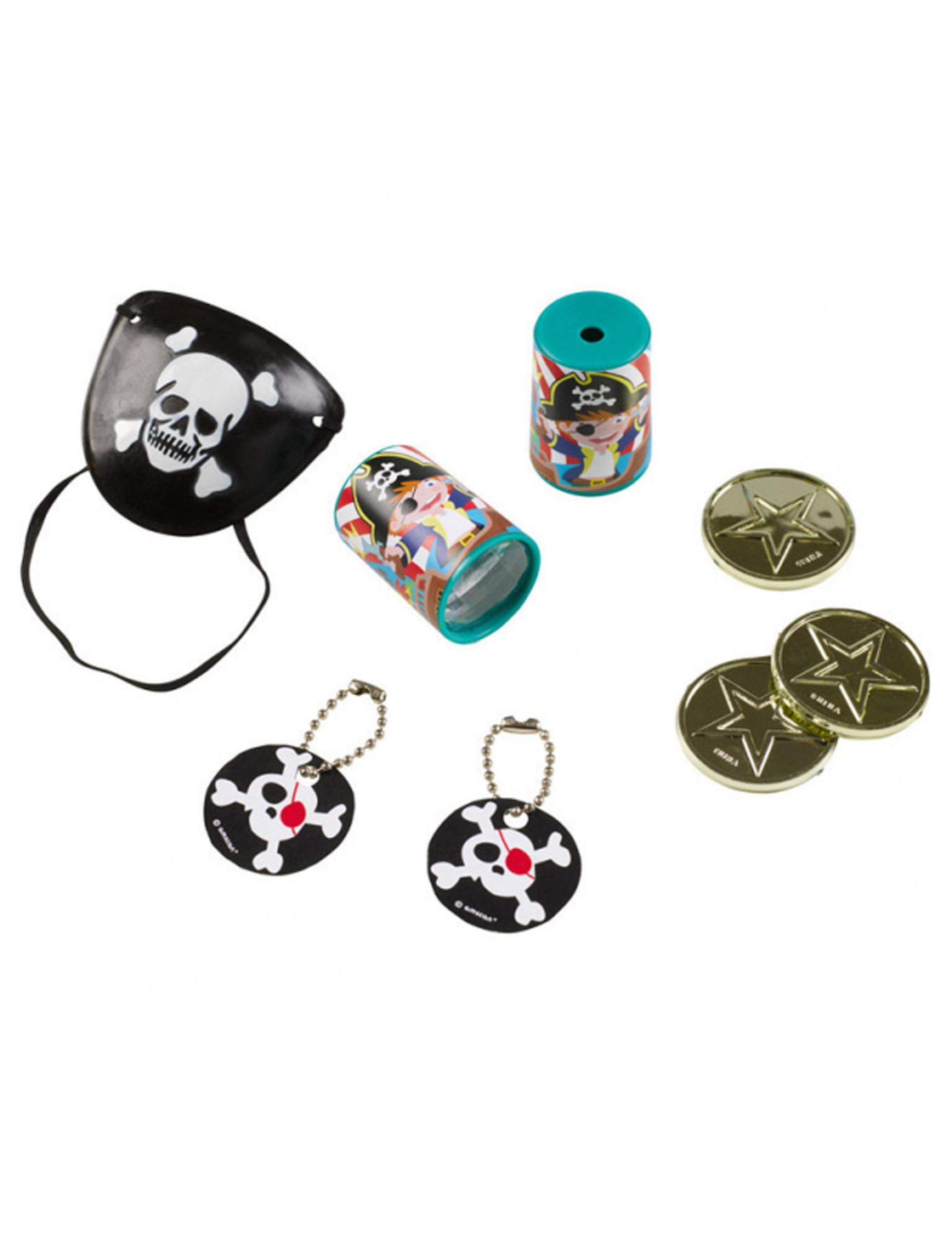 Le Bon Coin Coffre A Jouet set 24 petits jouets pirate enfant, décoration anniversaire et fêtes à  thème sur vegaoo party