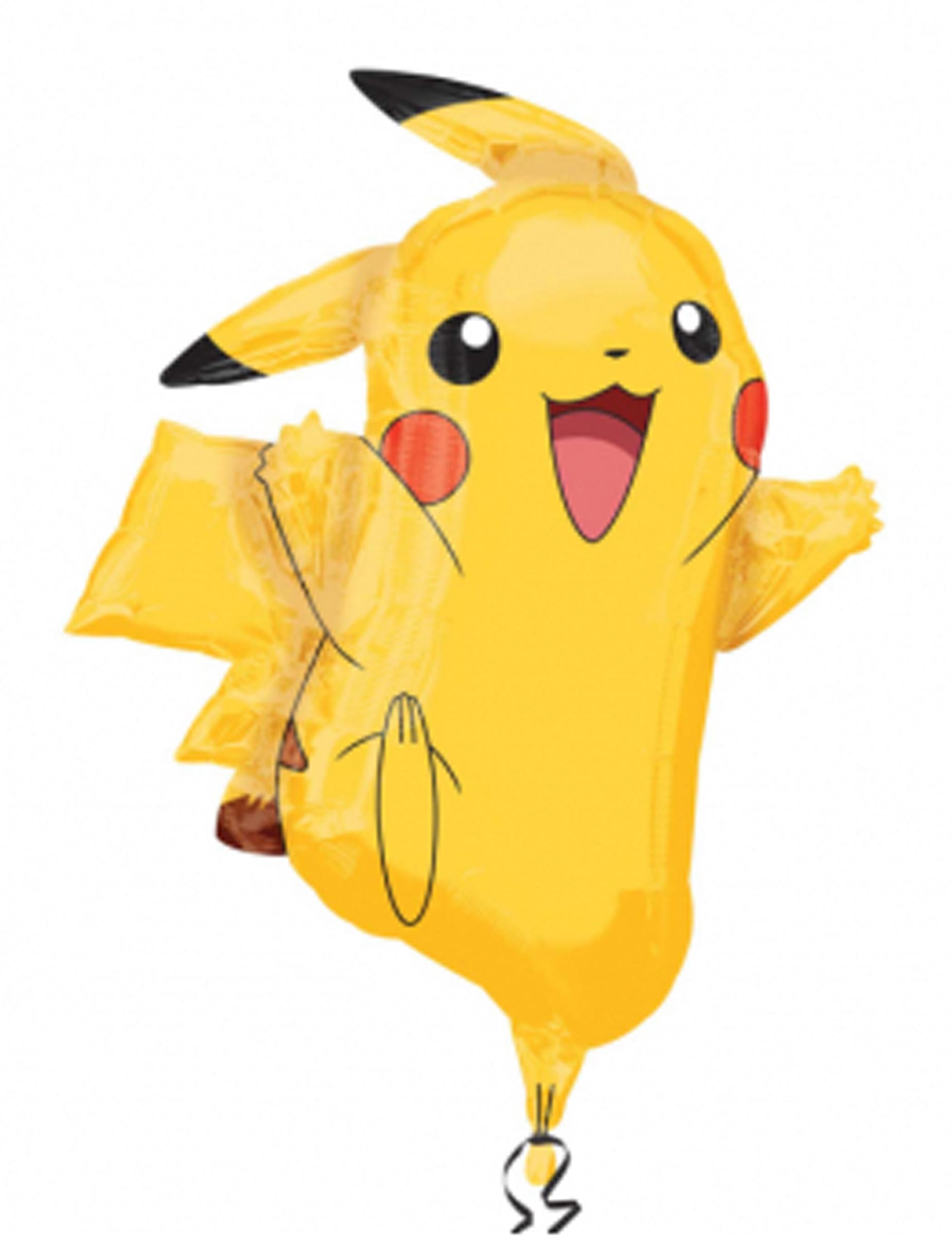 Ballon aluminium Pikachu Pokémon ™ 62 x 78 cm, décoration ... on