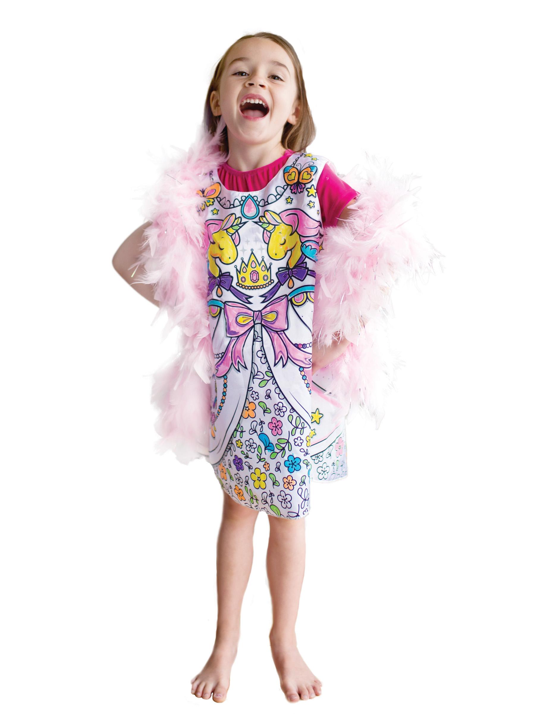 Robe lavable colorier princesse fille d coration - Fille a colorier ...