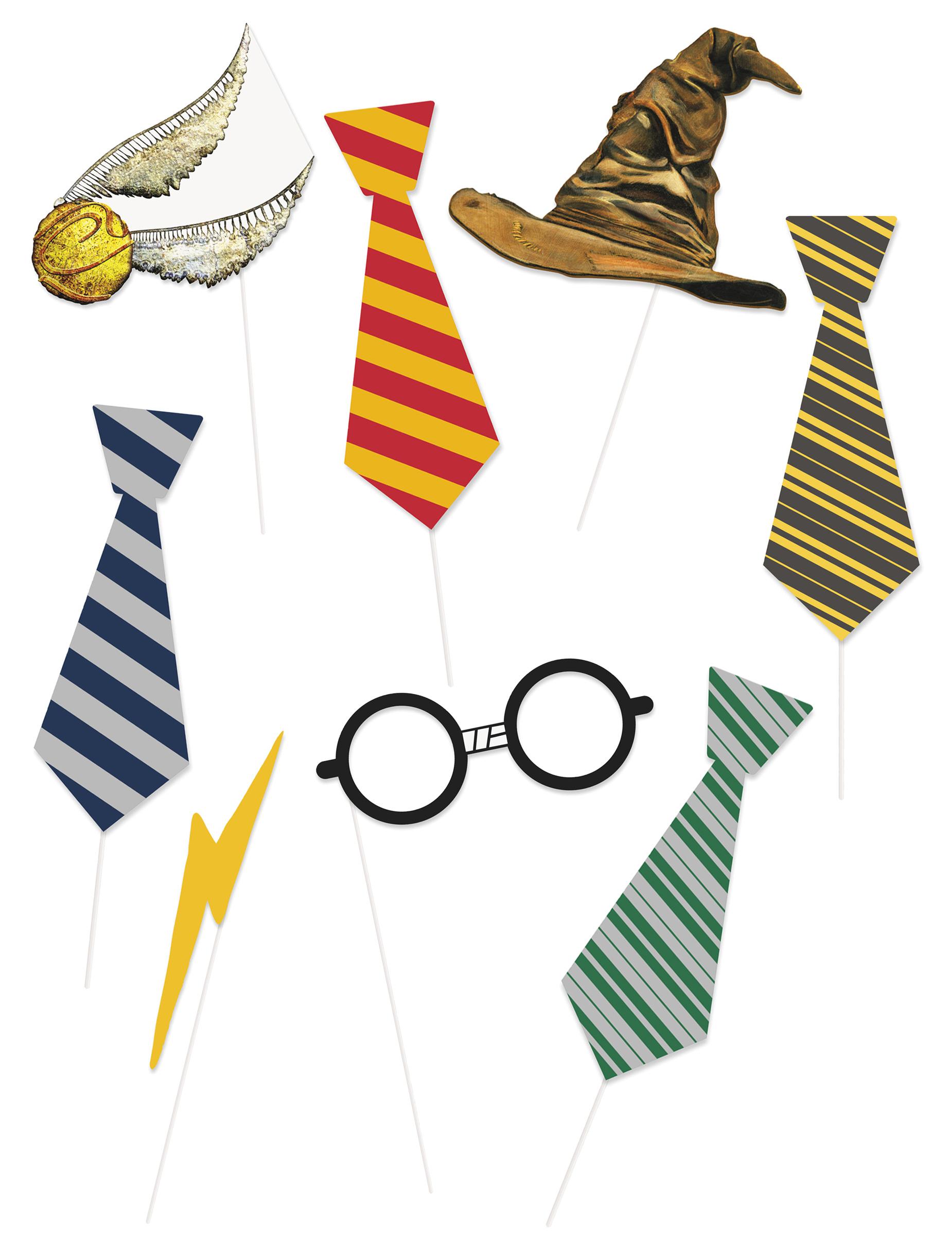 Kit photobooth 8 pièces Harry Potter™, décoration ...