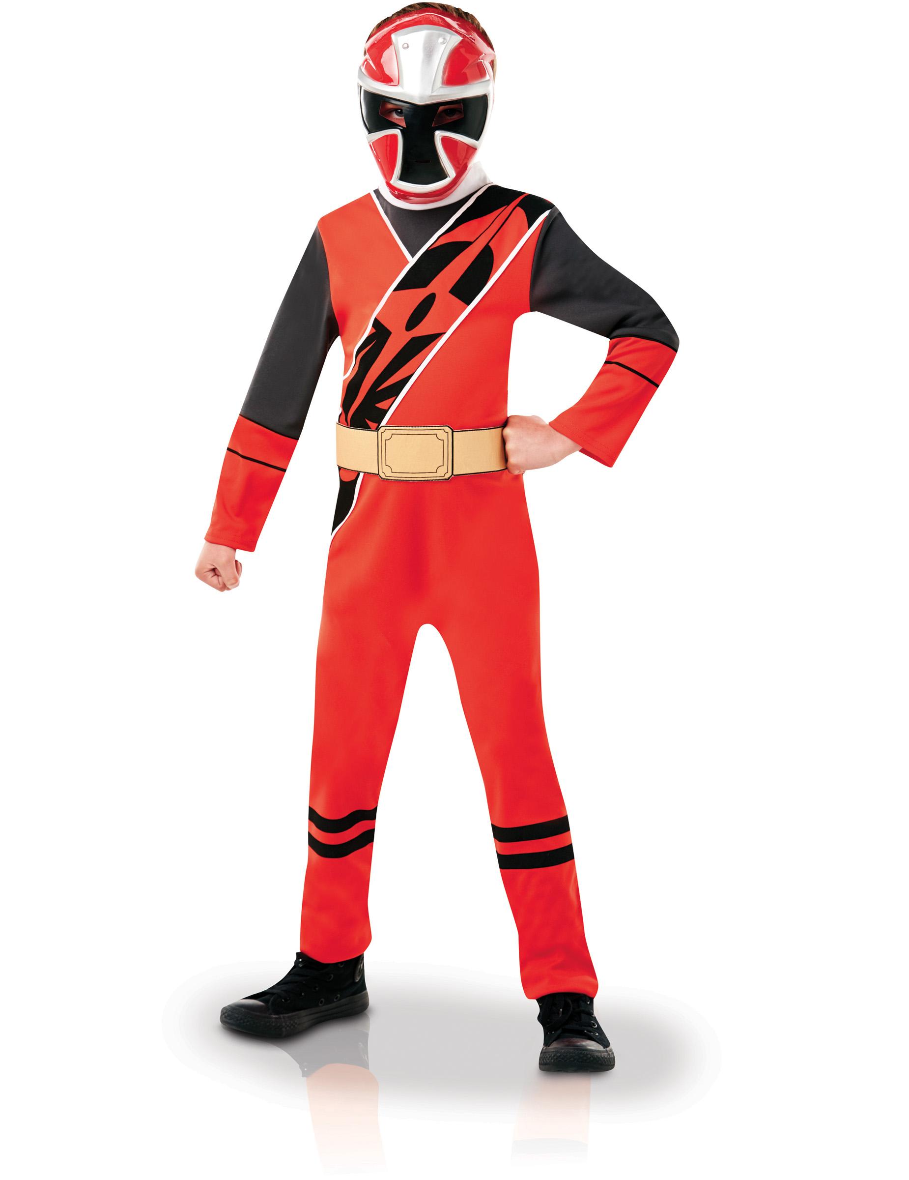 Déguisement Classique Power Rangers Ninja Steel Rouge Enfant Décoration Anniversaire Et Fêtes à Thème Sur Vegaoo Party