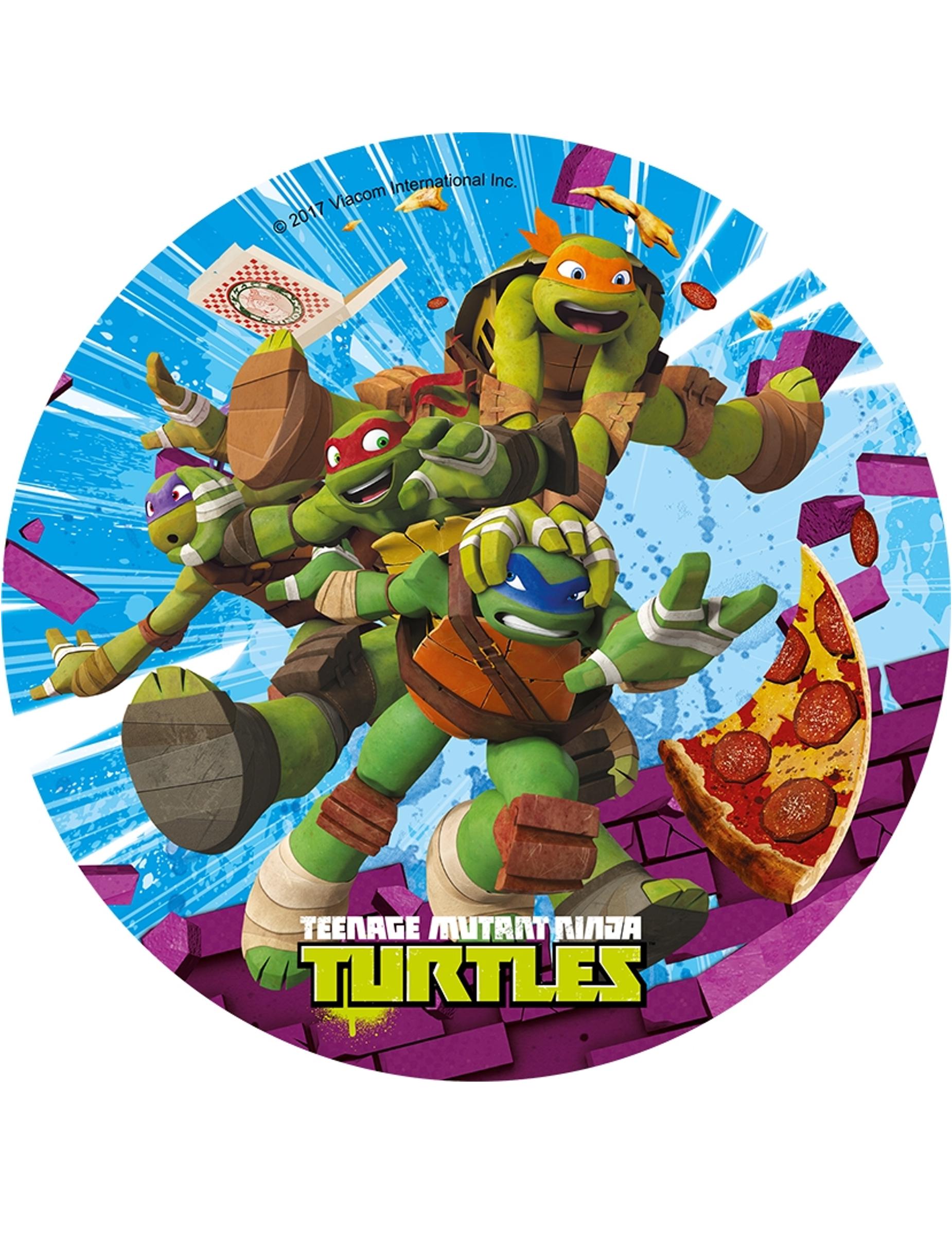 Disque en azyme les tortues ninja 21 cm al atoire d coration anniversaire et f tes th me - Image de tortue ninja ...