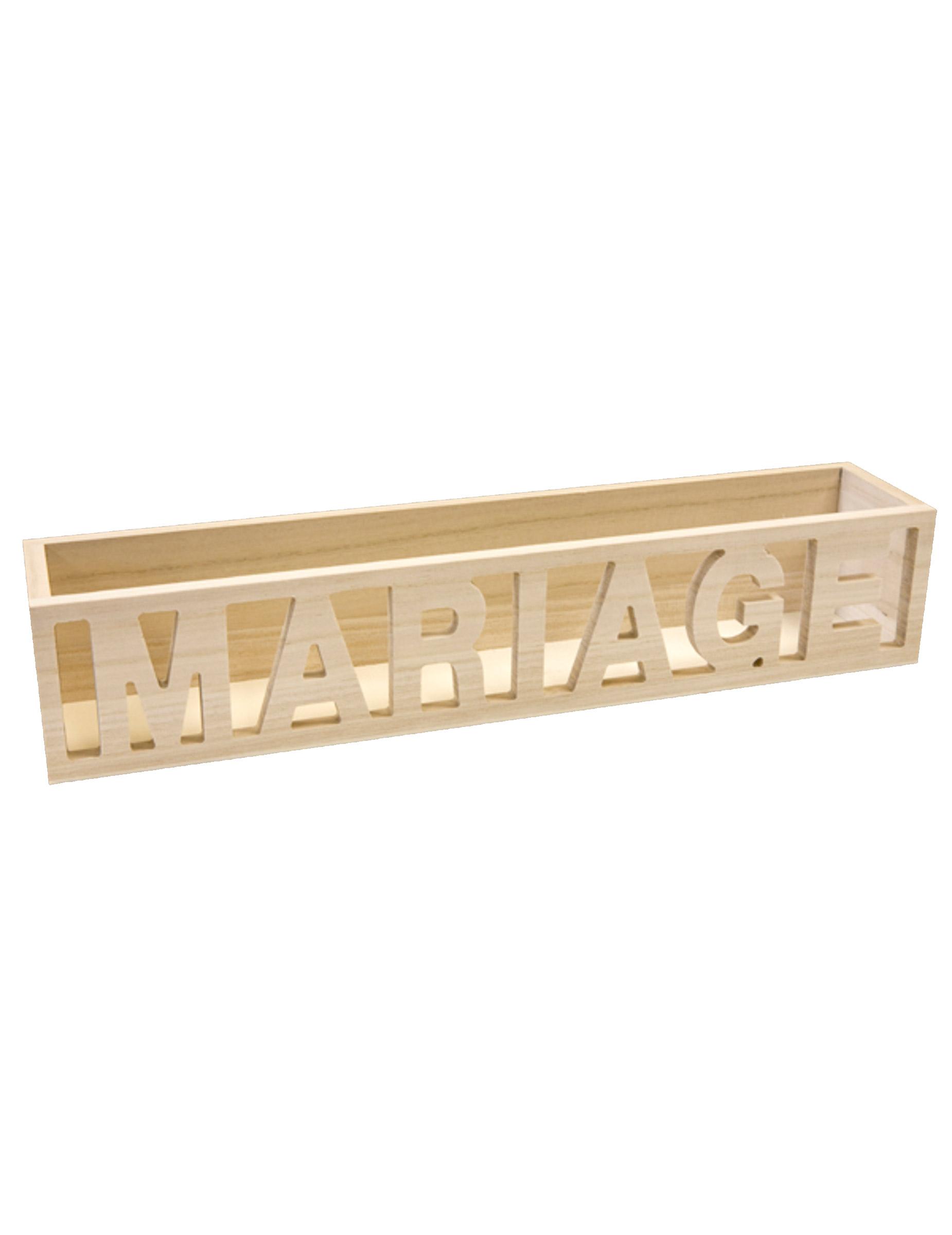 petite caisse en bois mariage 36 cm d coration. Black Bedroom Furniture Sets. Home Design Ideas