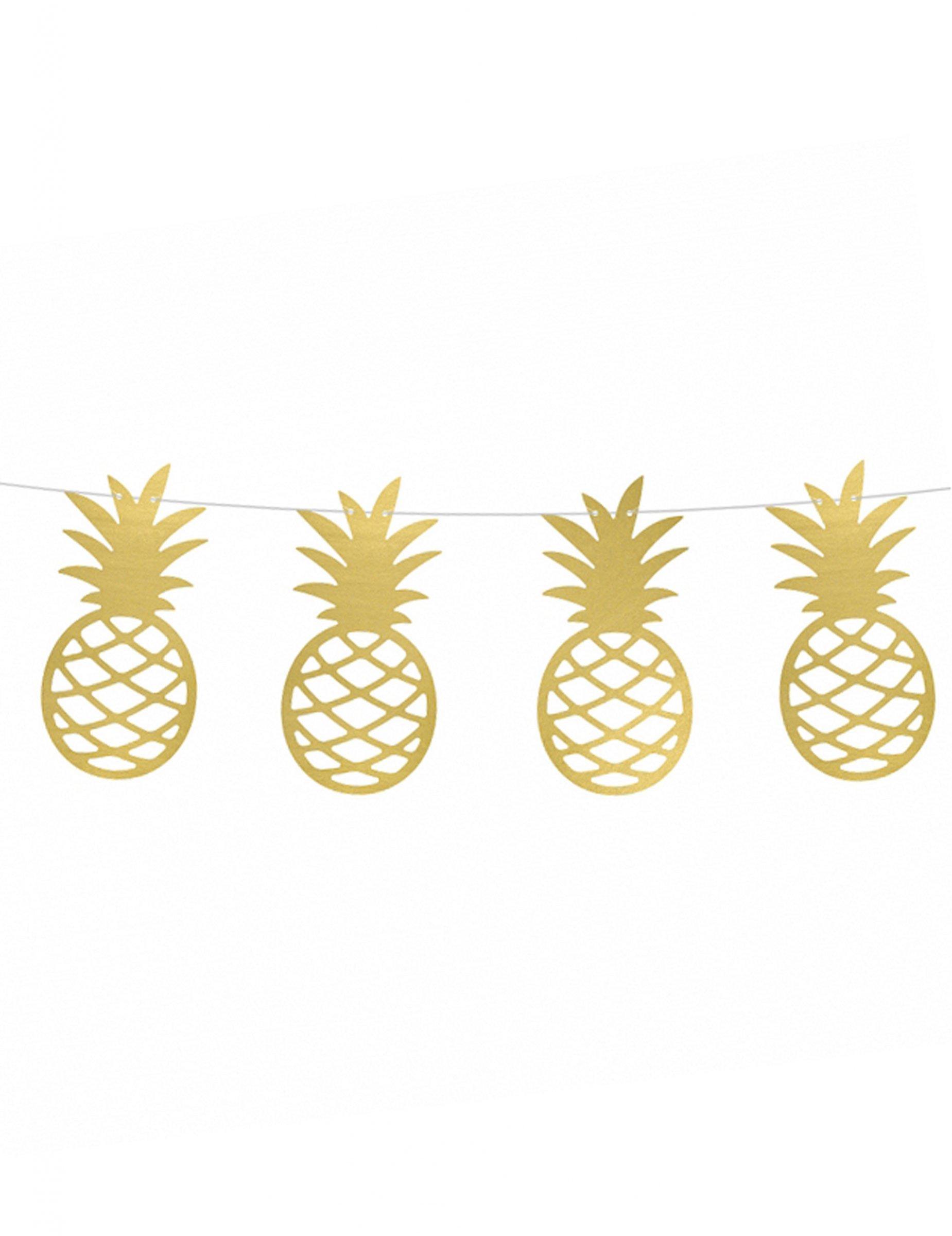 Guirlande à Faire Soi Même Ananas Doré Métallique 150 Cm Décoration Anniversaire Et Fêtes à Thème Sur Vegaoo Party