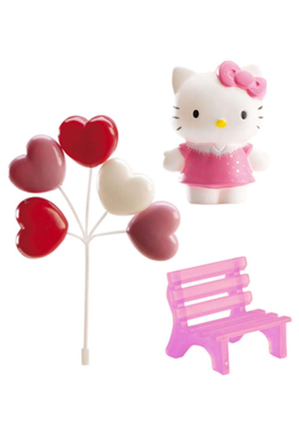 kit de d coration pour g teau hello kitty 6 5 cm d coration anniversaire et f tes th me sur. Black Bedroom Furniture Sets. Home Design Ideas