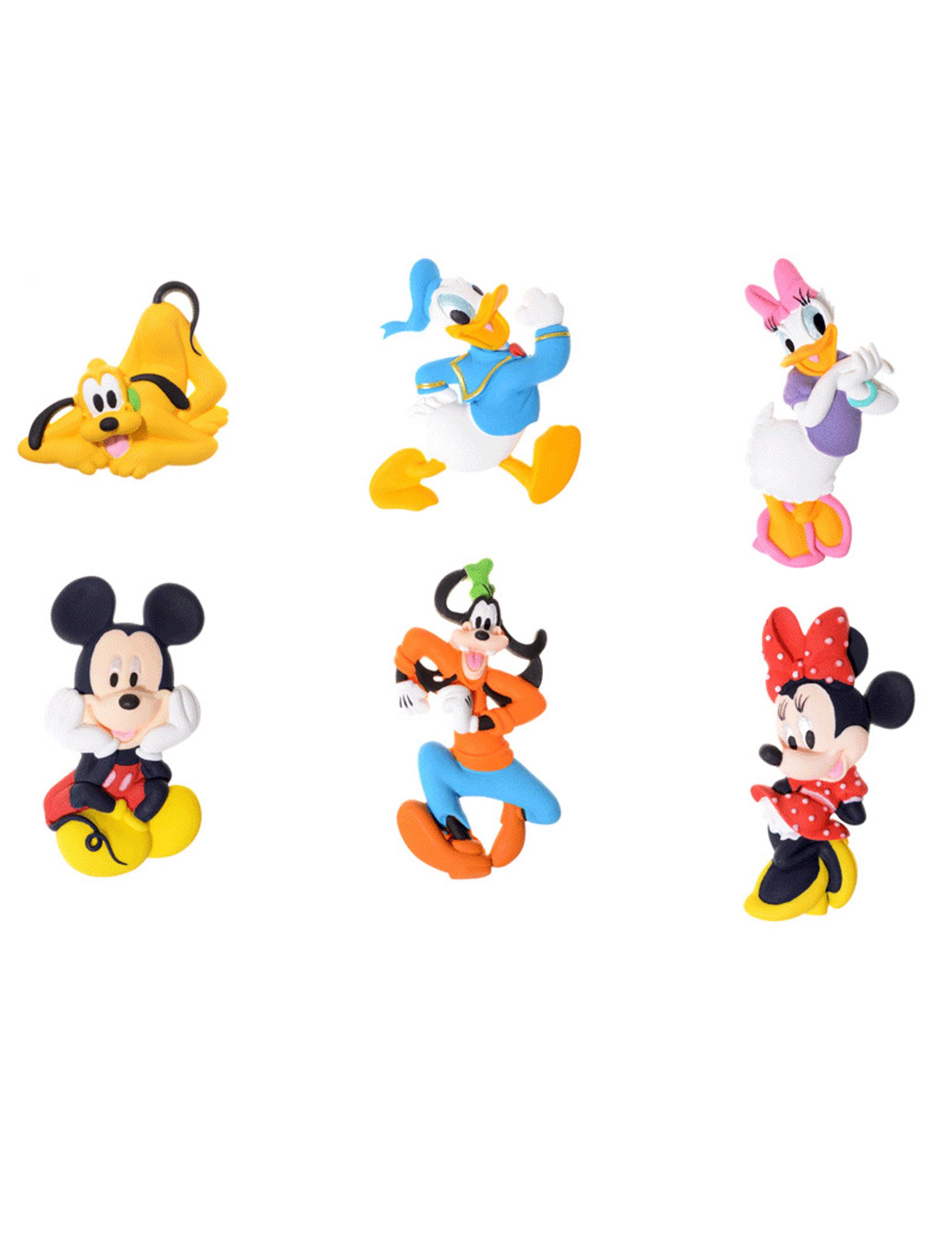 Kit de 6 figurines d coratives mickey et ses amis - Amis de mickey ...