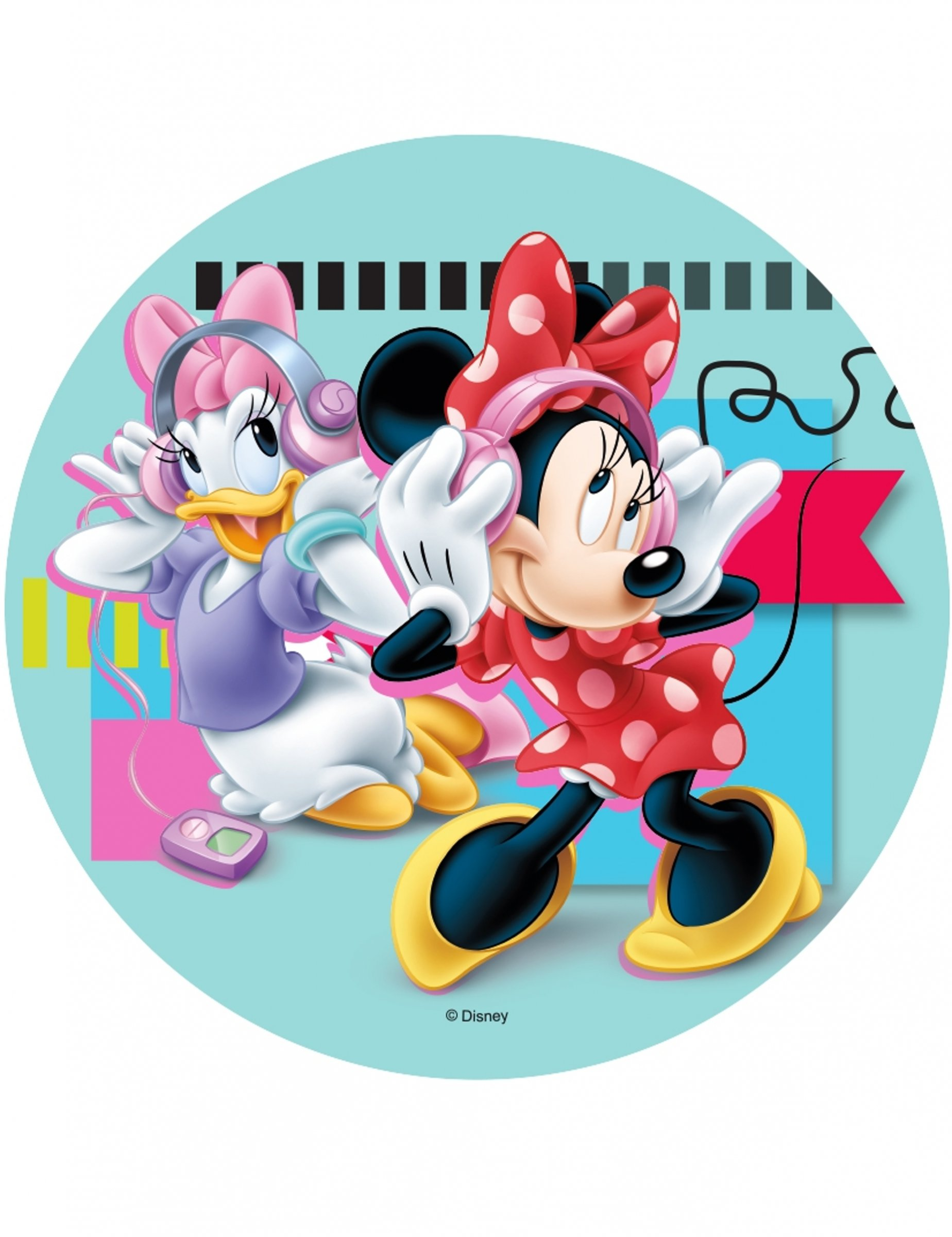 Disque azyme minnie minnie et daisy 21 cm d coration - Minnie et daisy ...