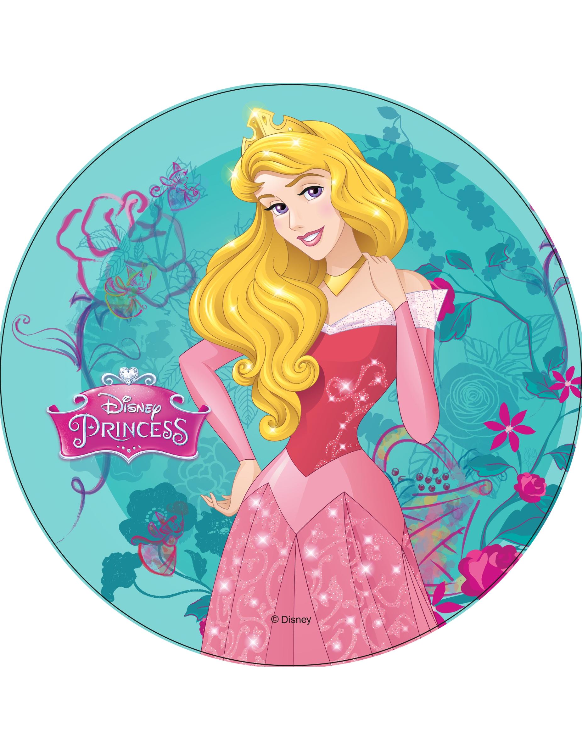 Disque en azyme princesses disney aurore 21 cm - Aurore princesse disney ...