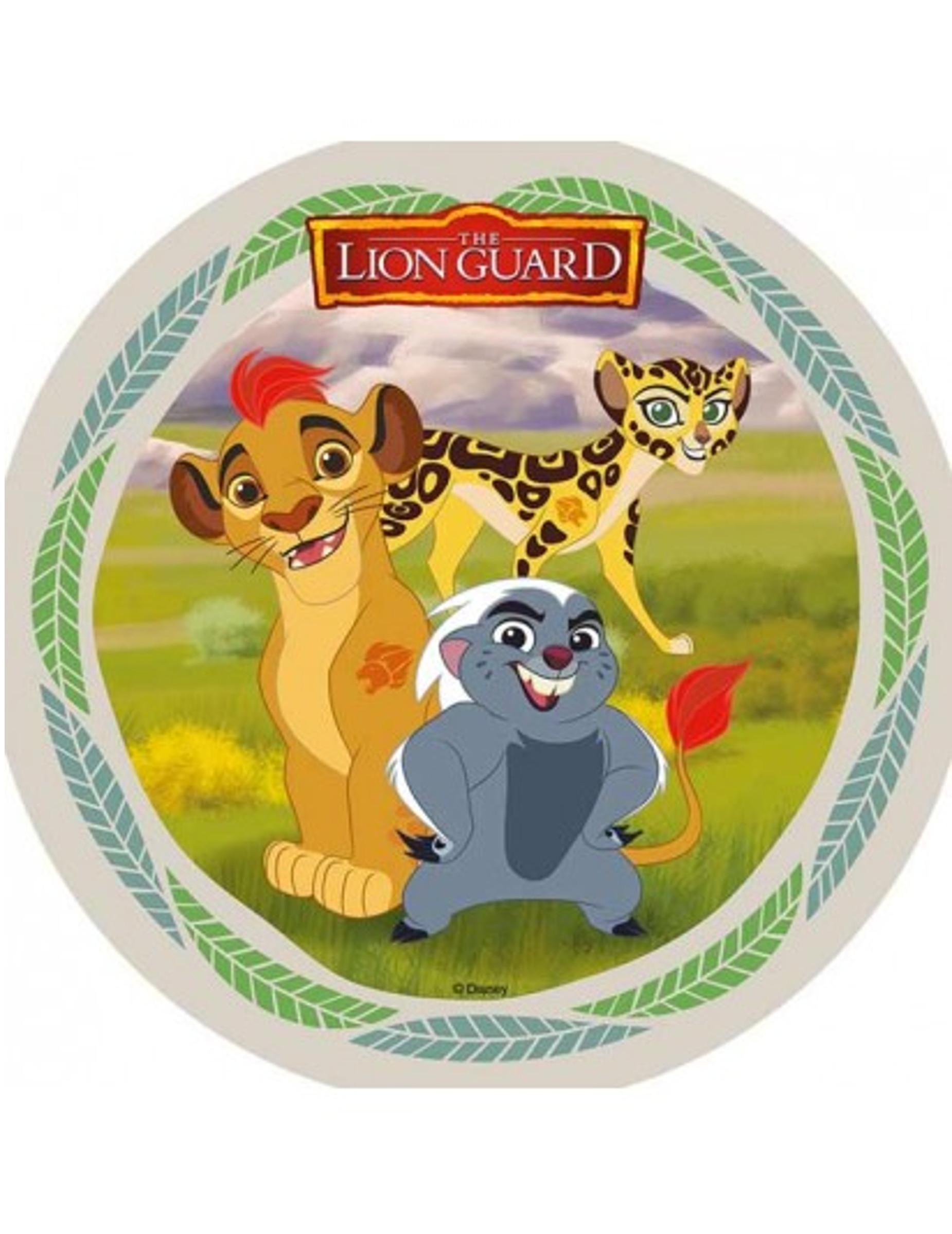 Disque Azyme La Garde Du Roi Lion Kion Fuli Et Bunga 21 Cm Décoration Anniversaire Et Fêtes à Thème Sur Vegaoo Party