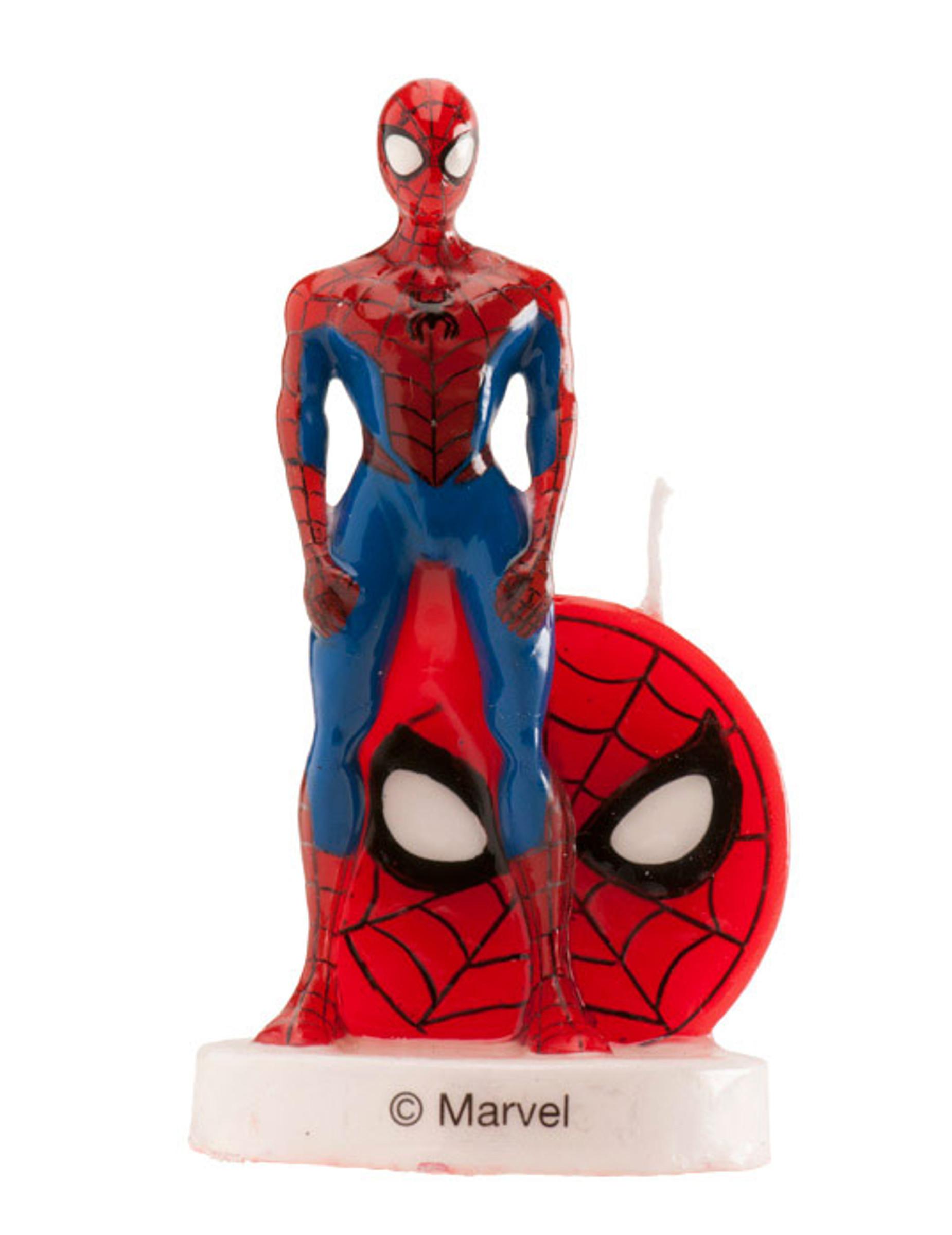 Bougie d 39 anniversaire spiderman 3d 6 cm d coration - Decoration spiderman pour anniversaire ...