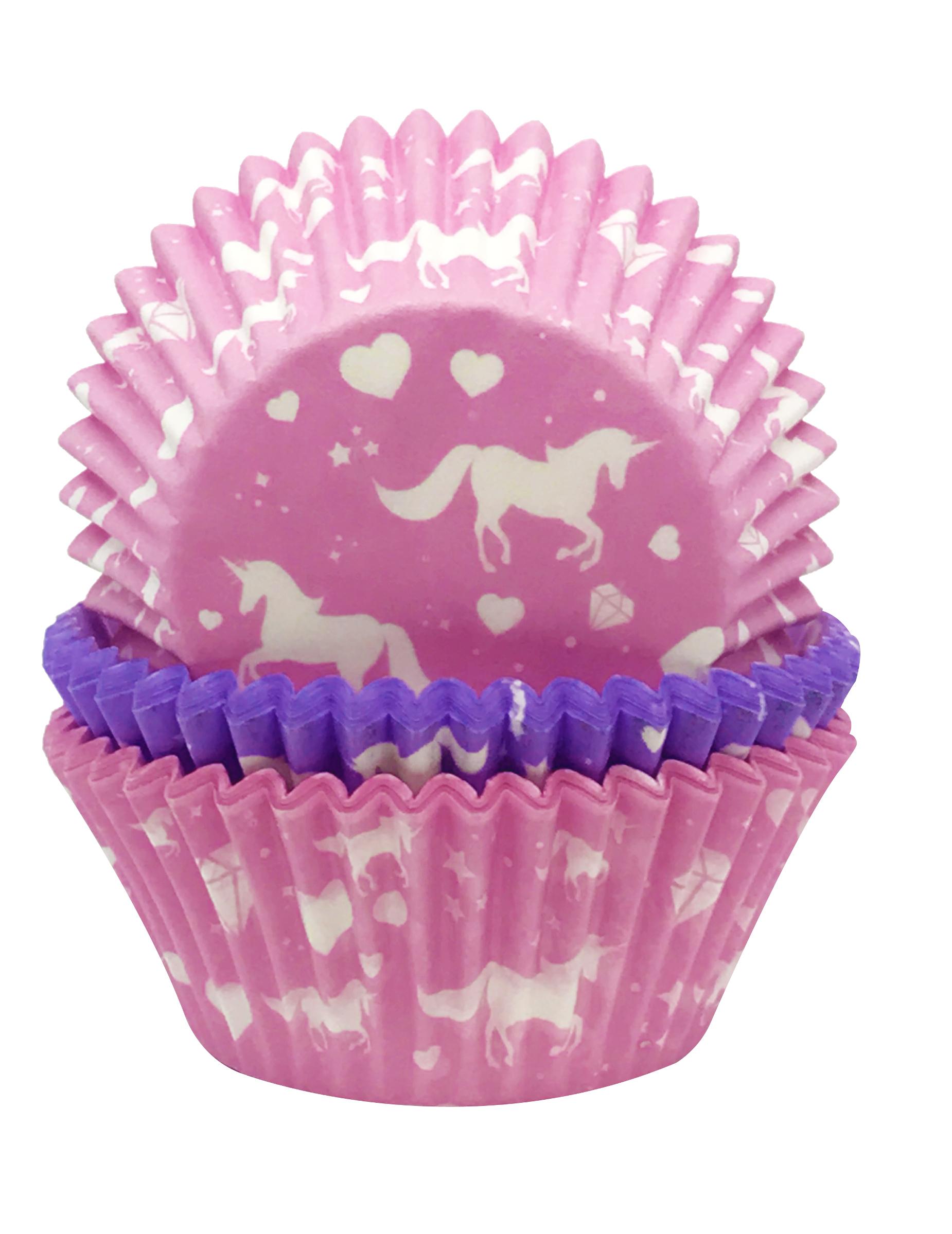 75 moules cupcake en papier licorne d coration anniversaire et f tes th me sur vegaoo party. Black Bedroom Furniture Sets. Home Design Ideas