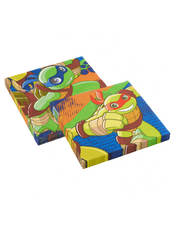 20 serviettes en papier tortues ninja dessin anim 33 x 33 cm d coration anniversaire et f tes - Dessin anime tortues ninja ...